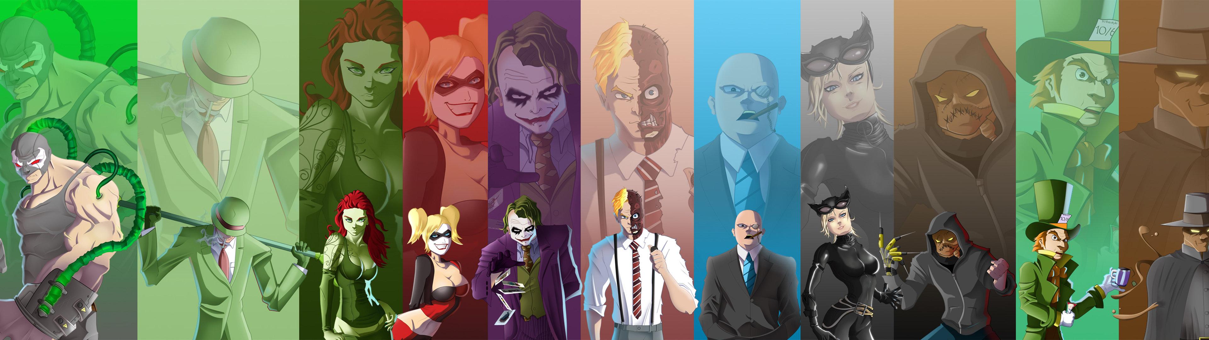 Dual Monitor Batman Wallpapers Hd Backgrounds