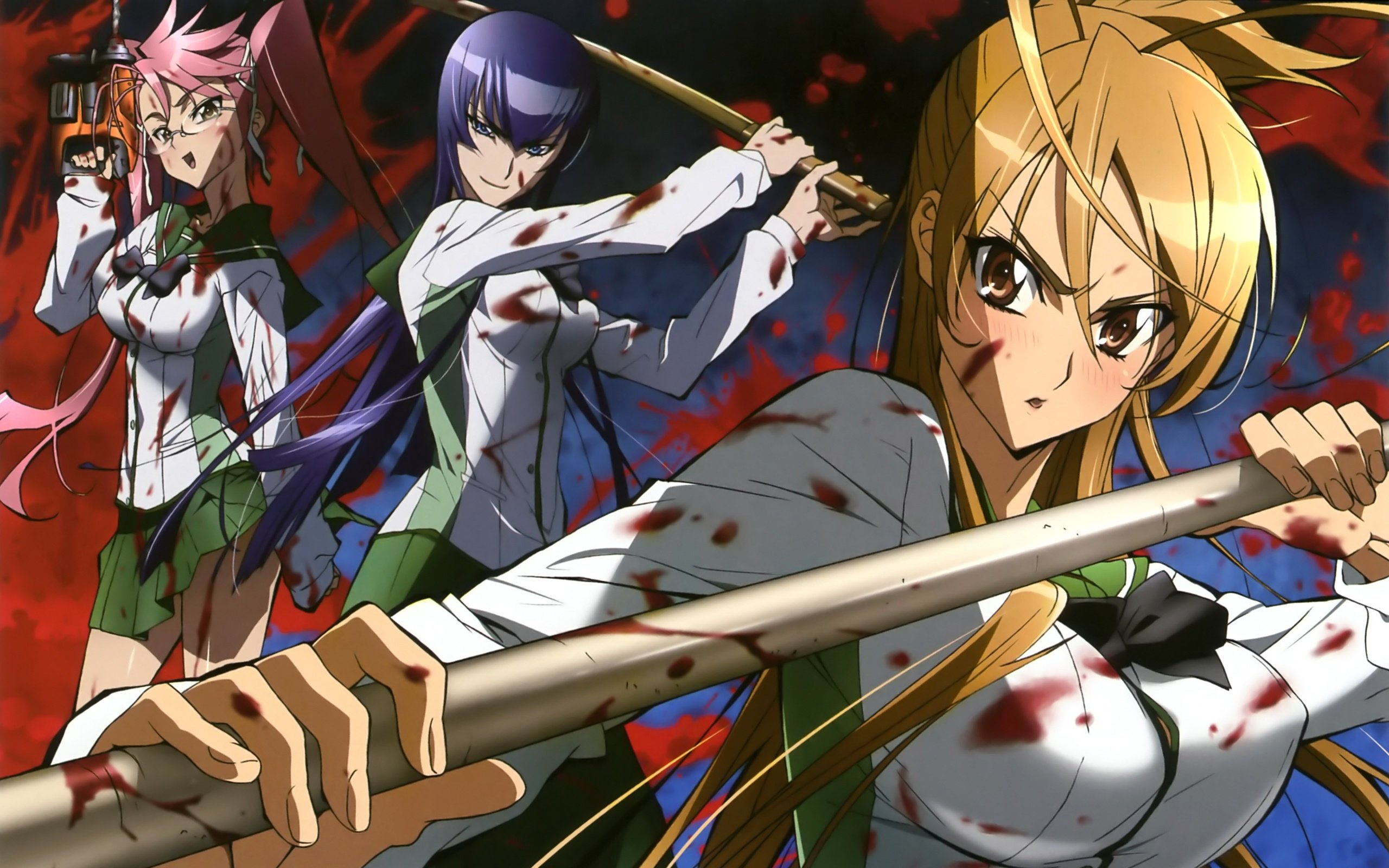Best Highschool Of The Dead background ID:447738 for High Resolution hd 2560x1600 PC