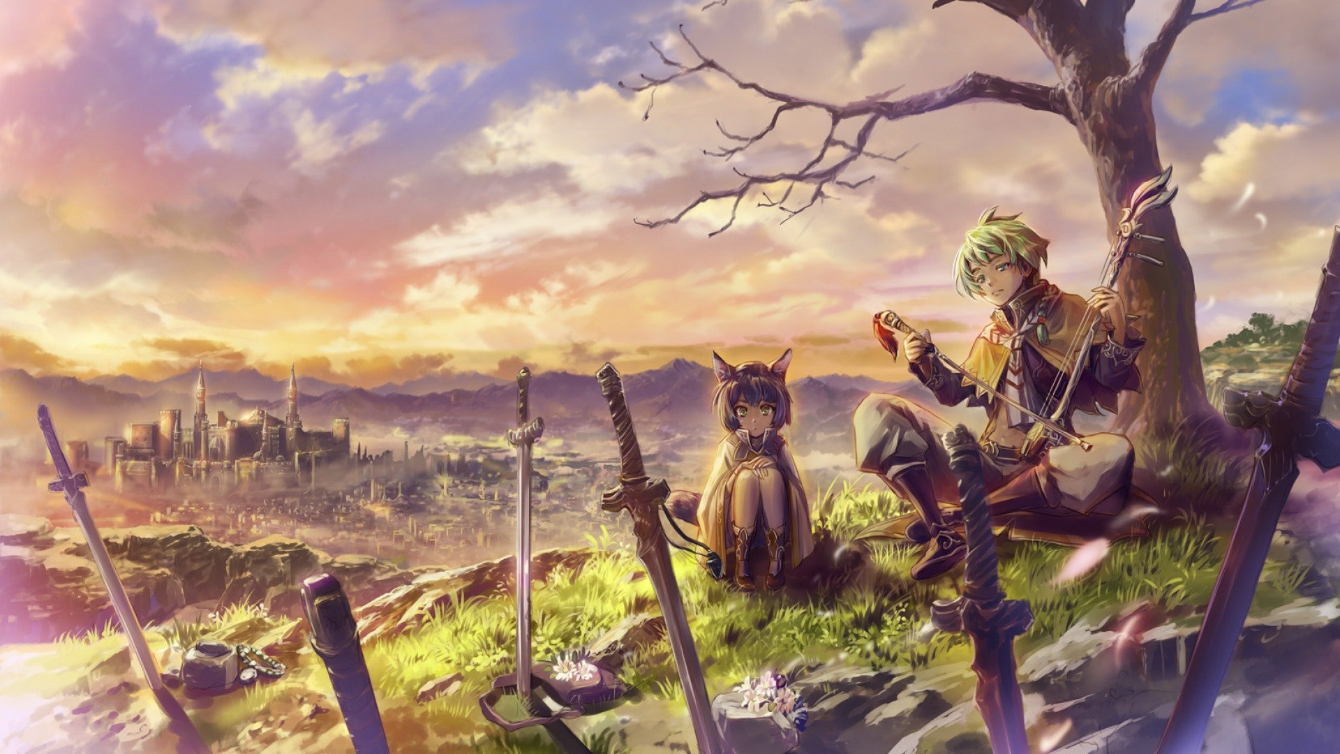 Best Pixiv Fantasia background ID:56180 for High Resolution full hd 1920x1080 computer