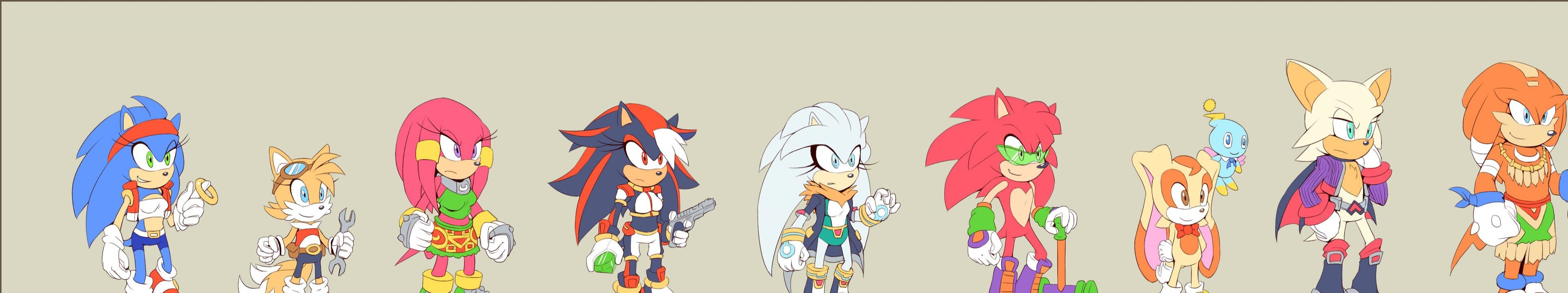 High resolution Sonic the Hedgehog triple monitor 3840x720 background ID:52179 for desktop