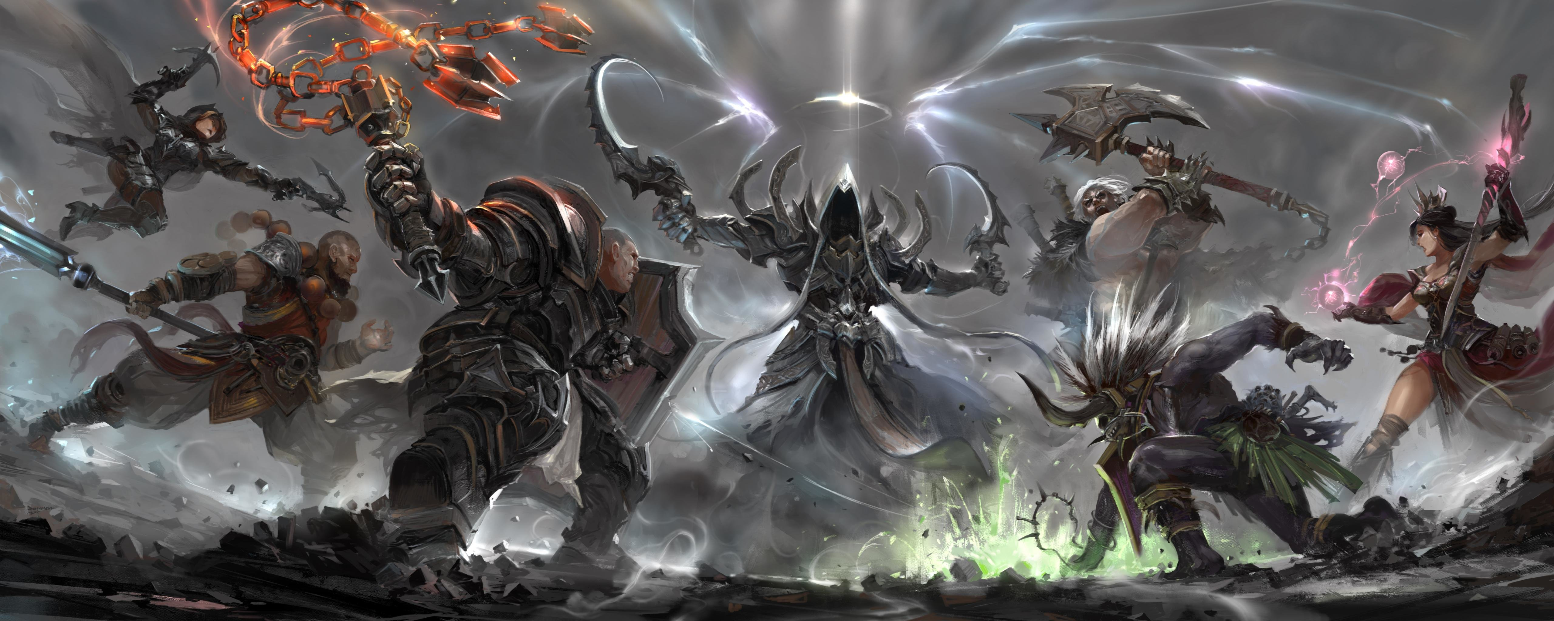 Free download Diablo 3: Reaper Of Souls wallpaper ID:400232 dual screen 5120x2048 for computer