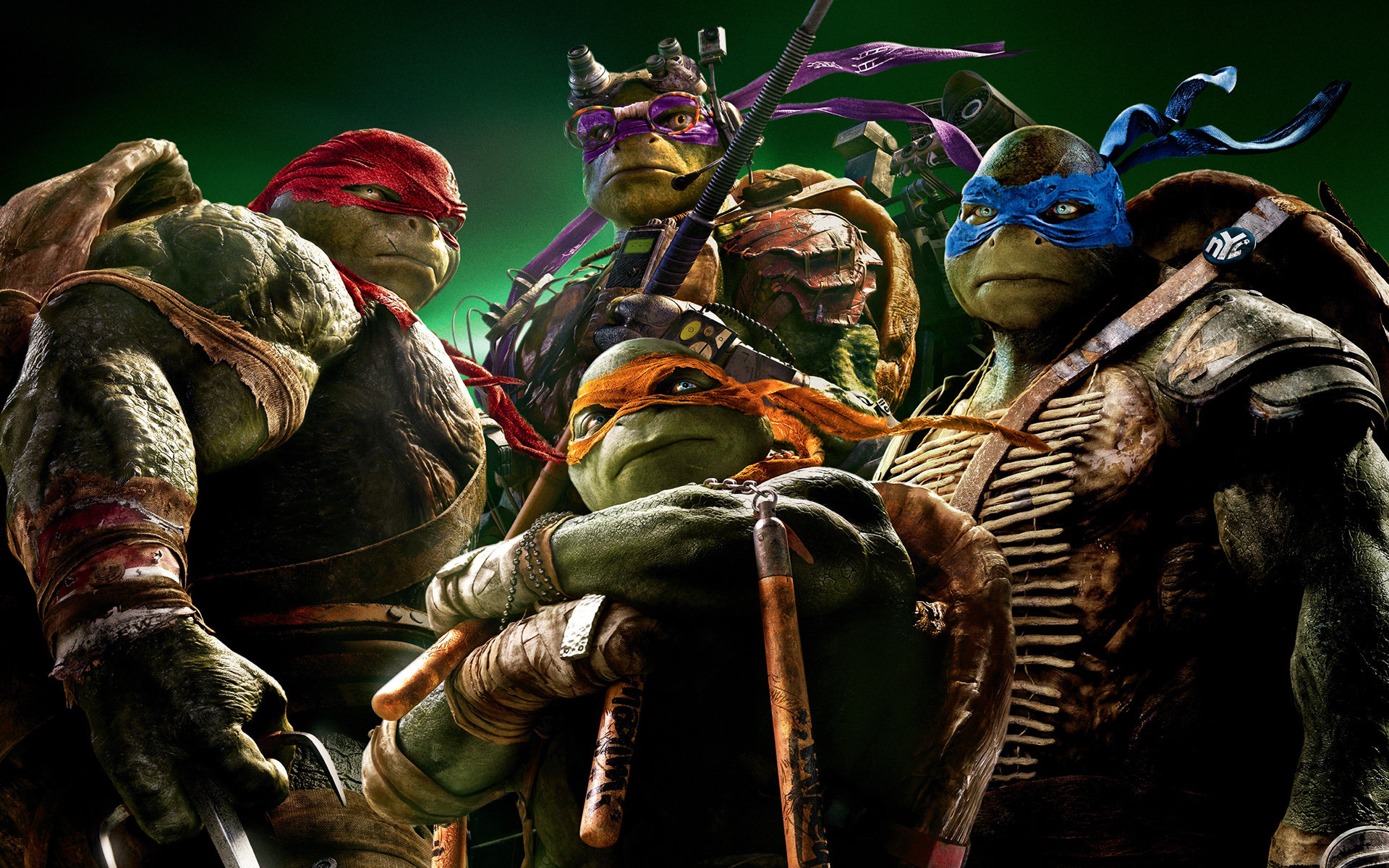Download hd 1920x1200 Teenage Mutant Ninja Turtles (2014) TMNT movie computer background ID:234159 for free