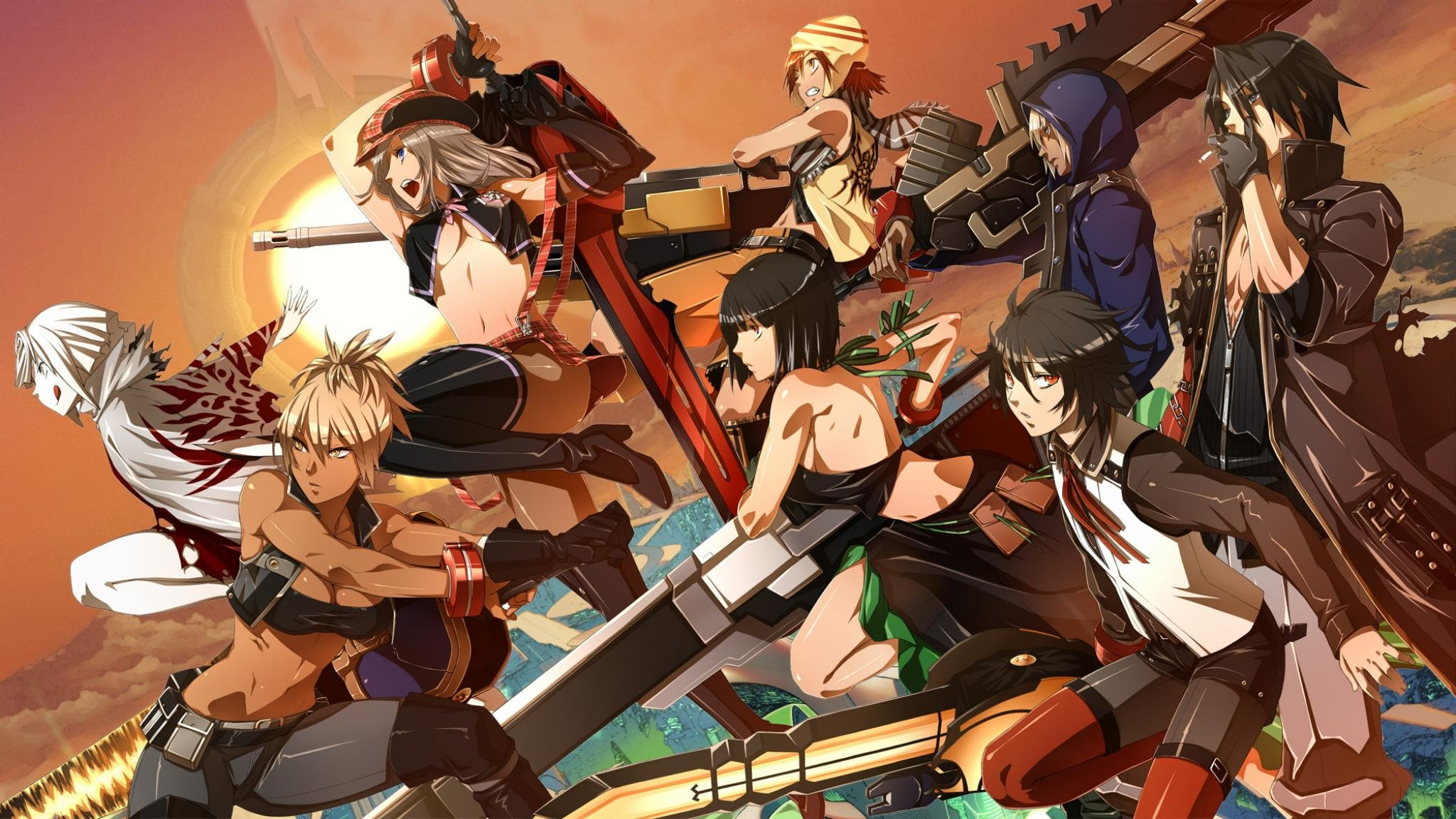 Free download God Eater background ID:409591 hd 2048x1152 for PC