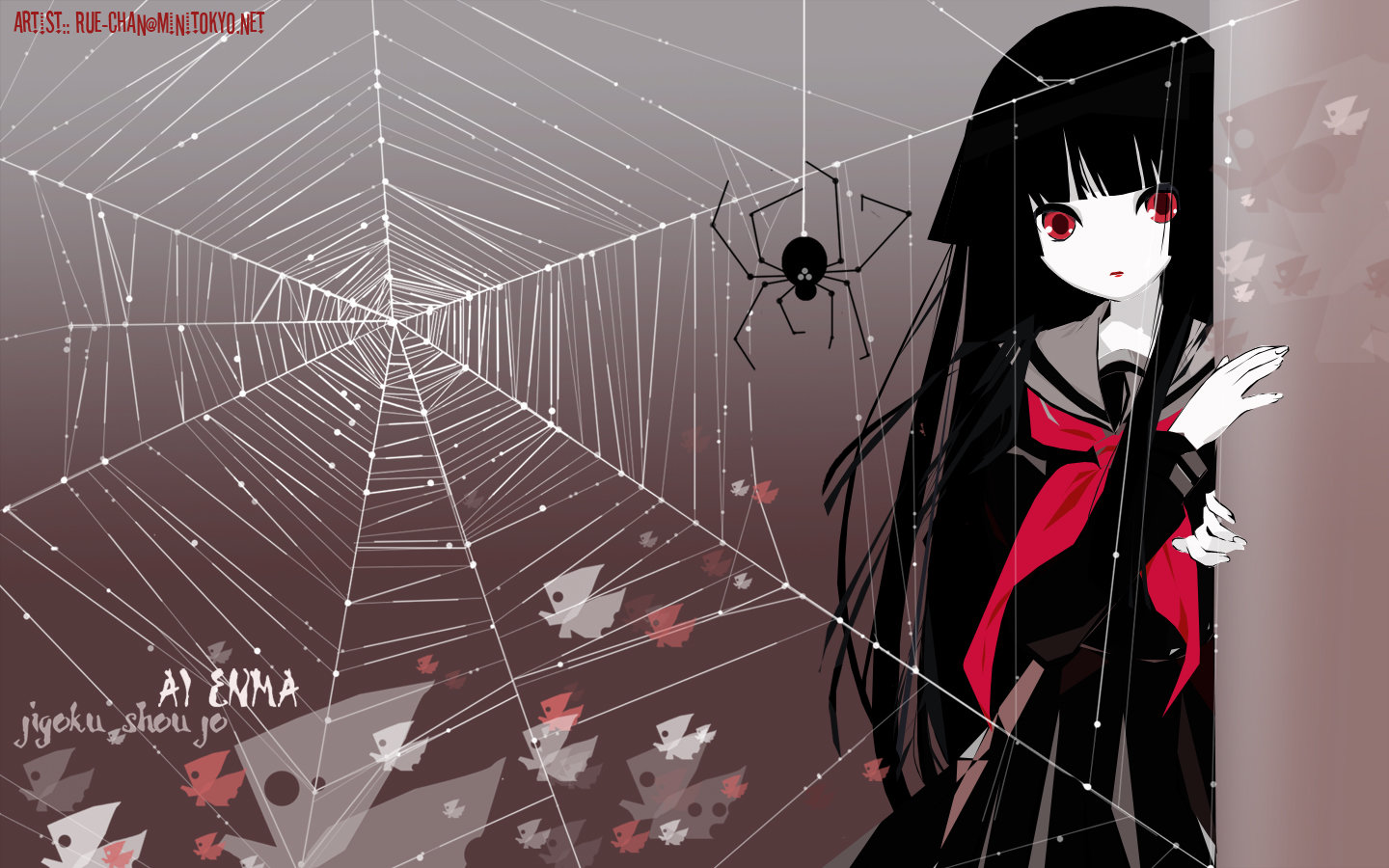 Download hd 1440x900 Jigoku Shojo PC background ID:353909 for free