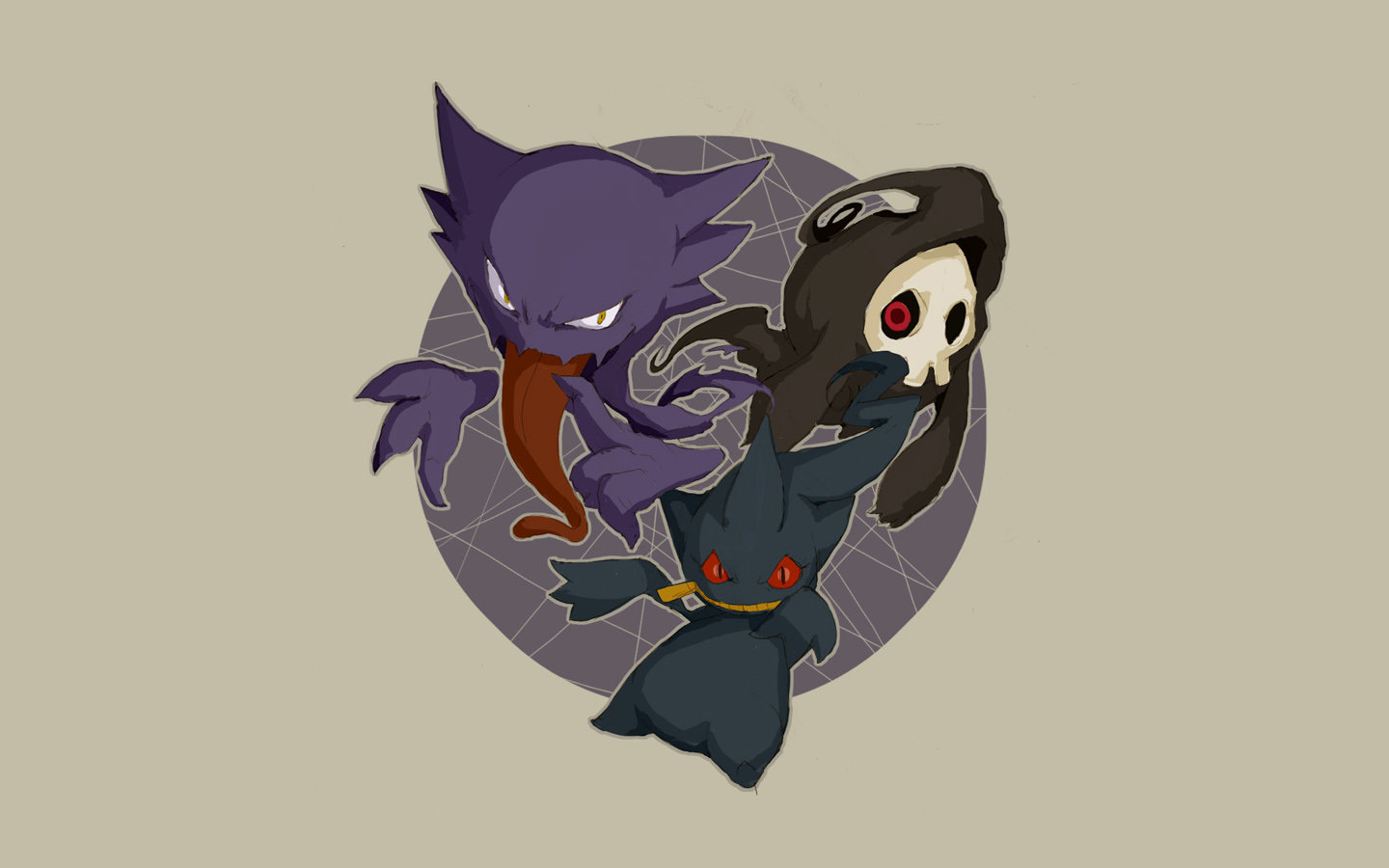 Download hd 1440x900 Haunter (Pokemon) PC wallpaper ID:280344 for free