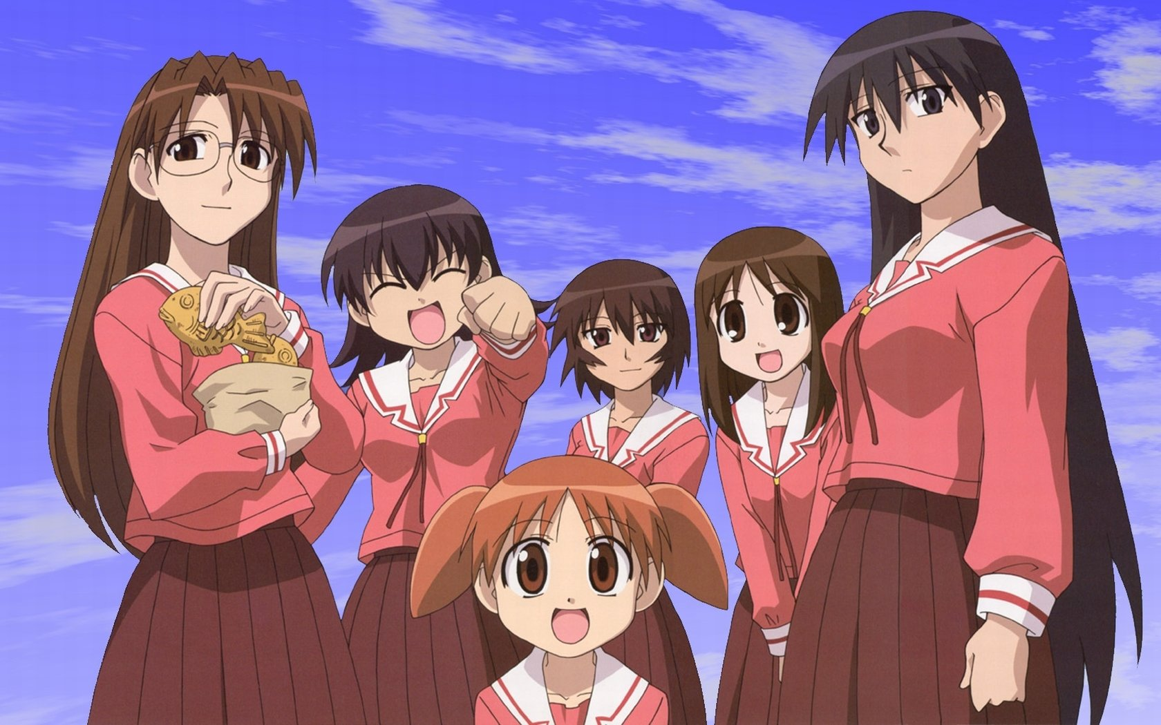 Download hd 1680x1050 Azumanga Daioh desktop background ID:374198 for free