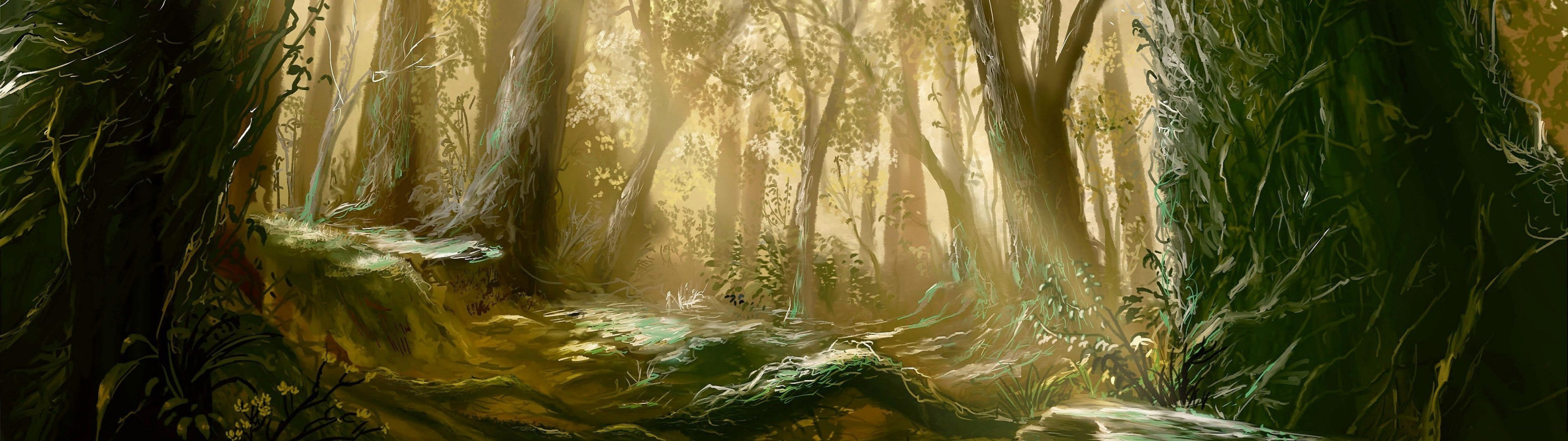 Awesome Mushishi free wallpaper ID:457666 for dual monitor 3200x900 PC
