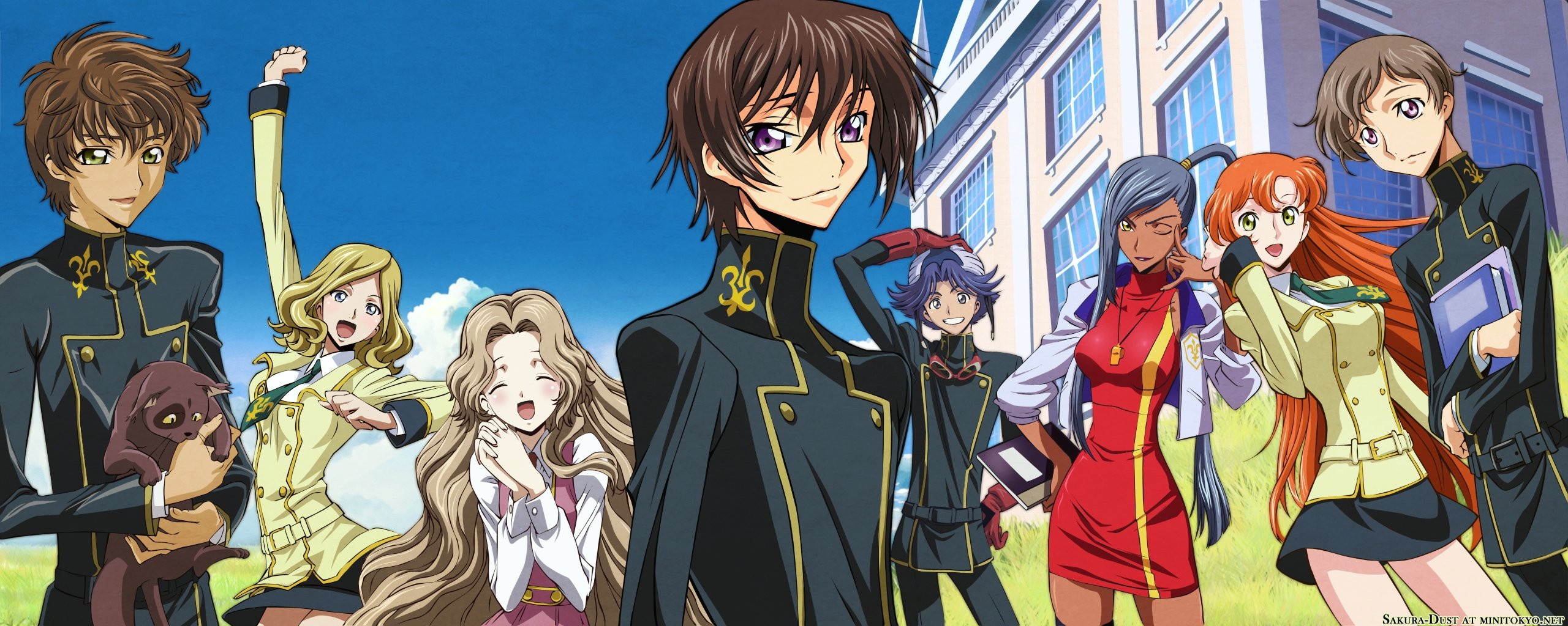 Awesome Code Geass free background ID:44481 for dual monitor 2569x1024 computer