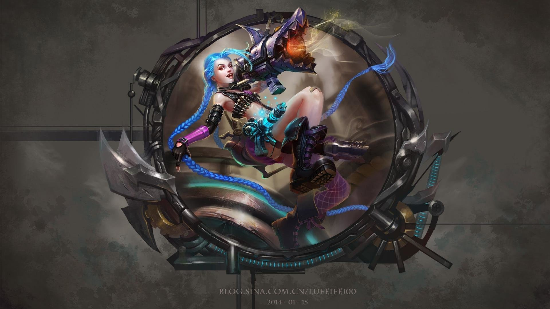 Download Hd 1920x1080 Jinx League Of Legends Desktop Wallpaper