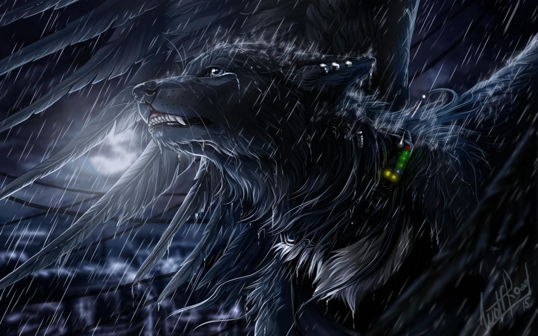 High Resolution Wolf Fantasy Hd 1440x900 Wallpaper Id 346532 For