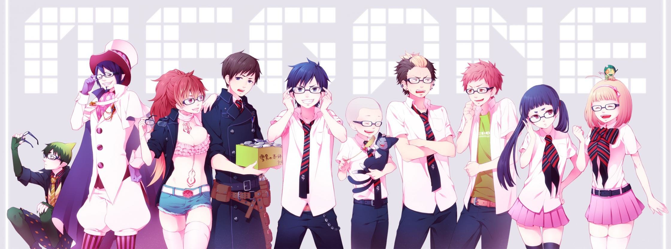 High resolution Blue Exorcist (Ao No) dual screen 2240x832 background ID:242187 for PC