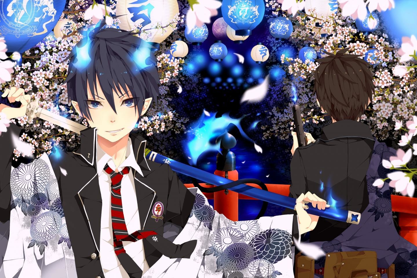 Awesome Blue Exorcist (Ao No) free background ID:242140 for hd 1440x960 PC