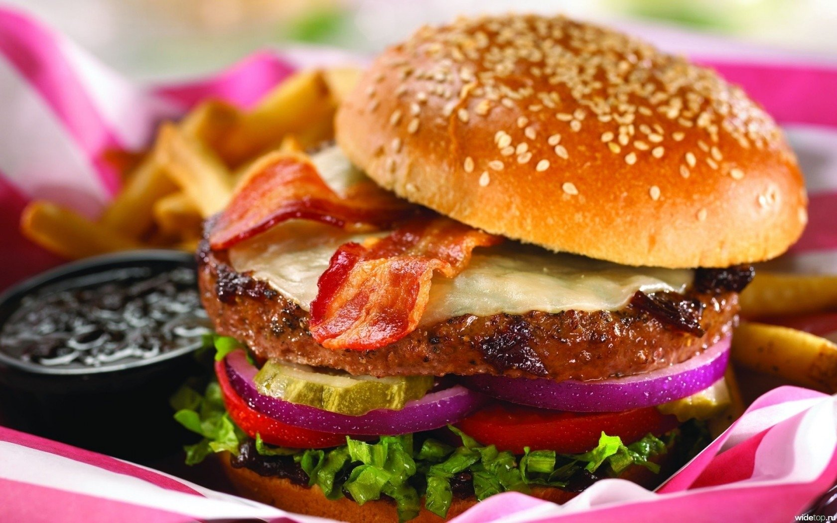 Free Burger high quality background ID:149226 for hd 1680x1050 PC