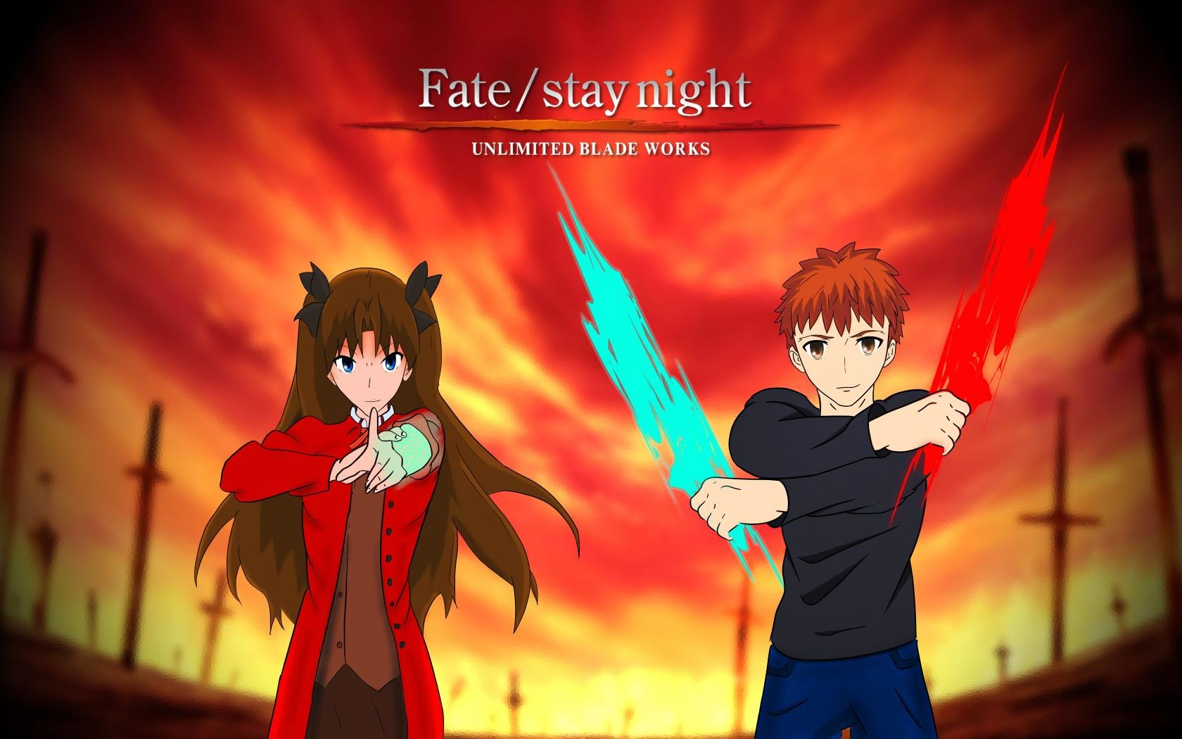 Download hd 1680x1050 Fate/Stay Night: Unlimited Blade Works computer background ID:291077 for free