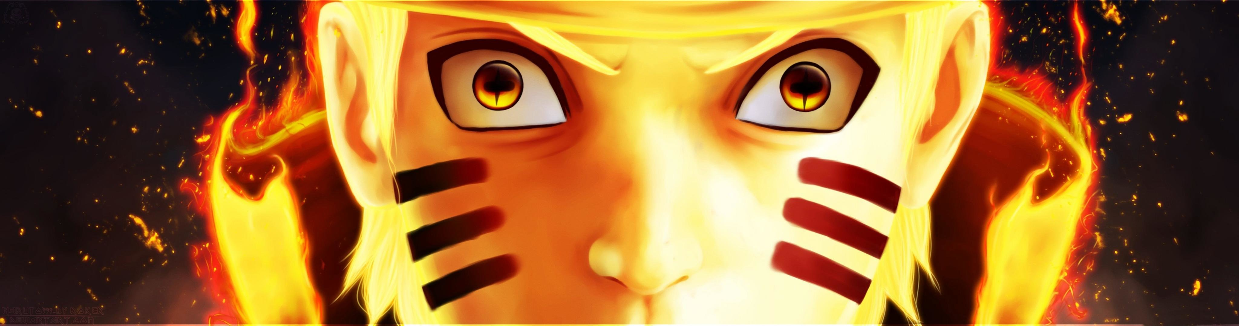 Awesome Naruto Uzumaki free background ID:395611 for dual screen 4096x1080 desktop