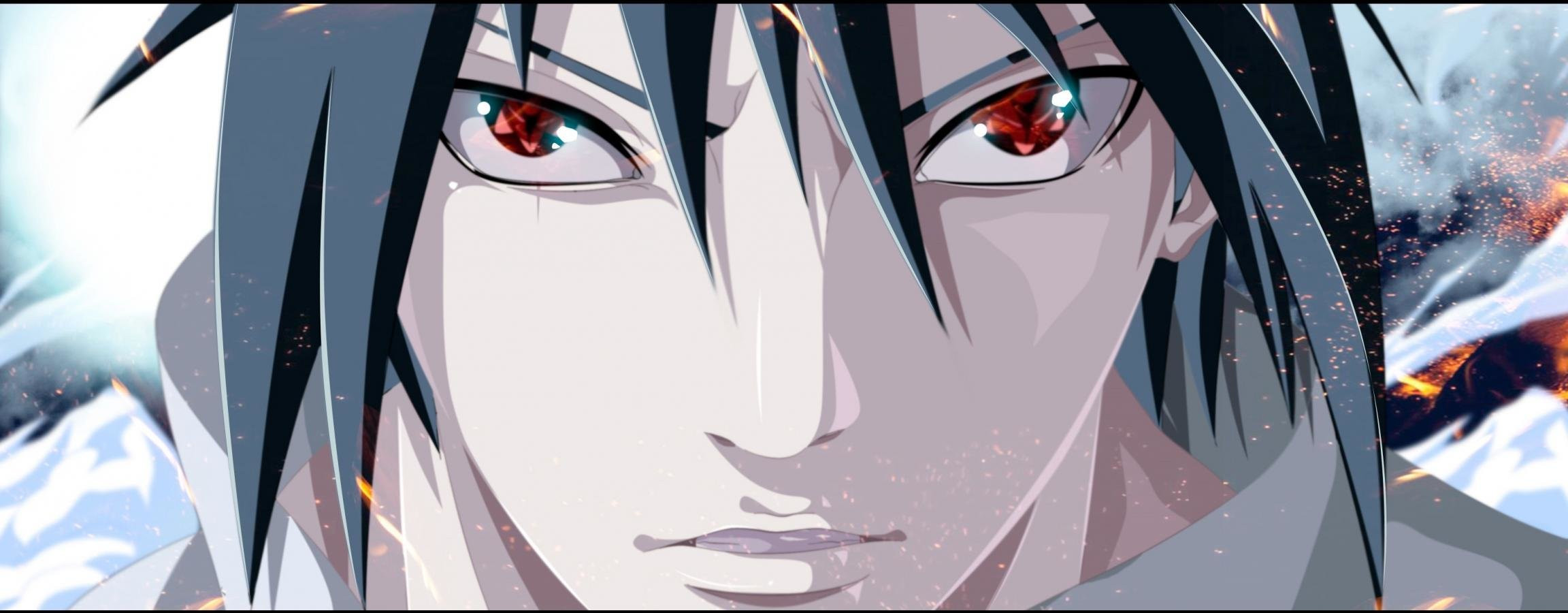 High resolution Sasuke Uchiha dual monitor 2304x900 background ID:395818 for desktop
