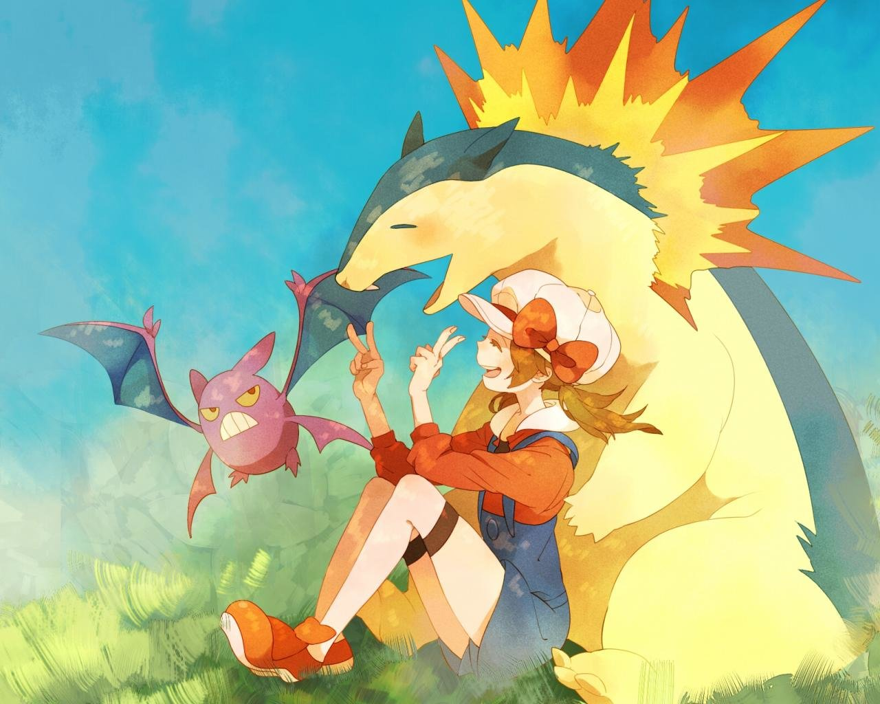 Free download Typhlosion (Pokemon) wallpaper ID:278977 hd 1280x1024 for PC