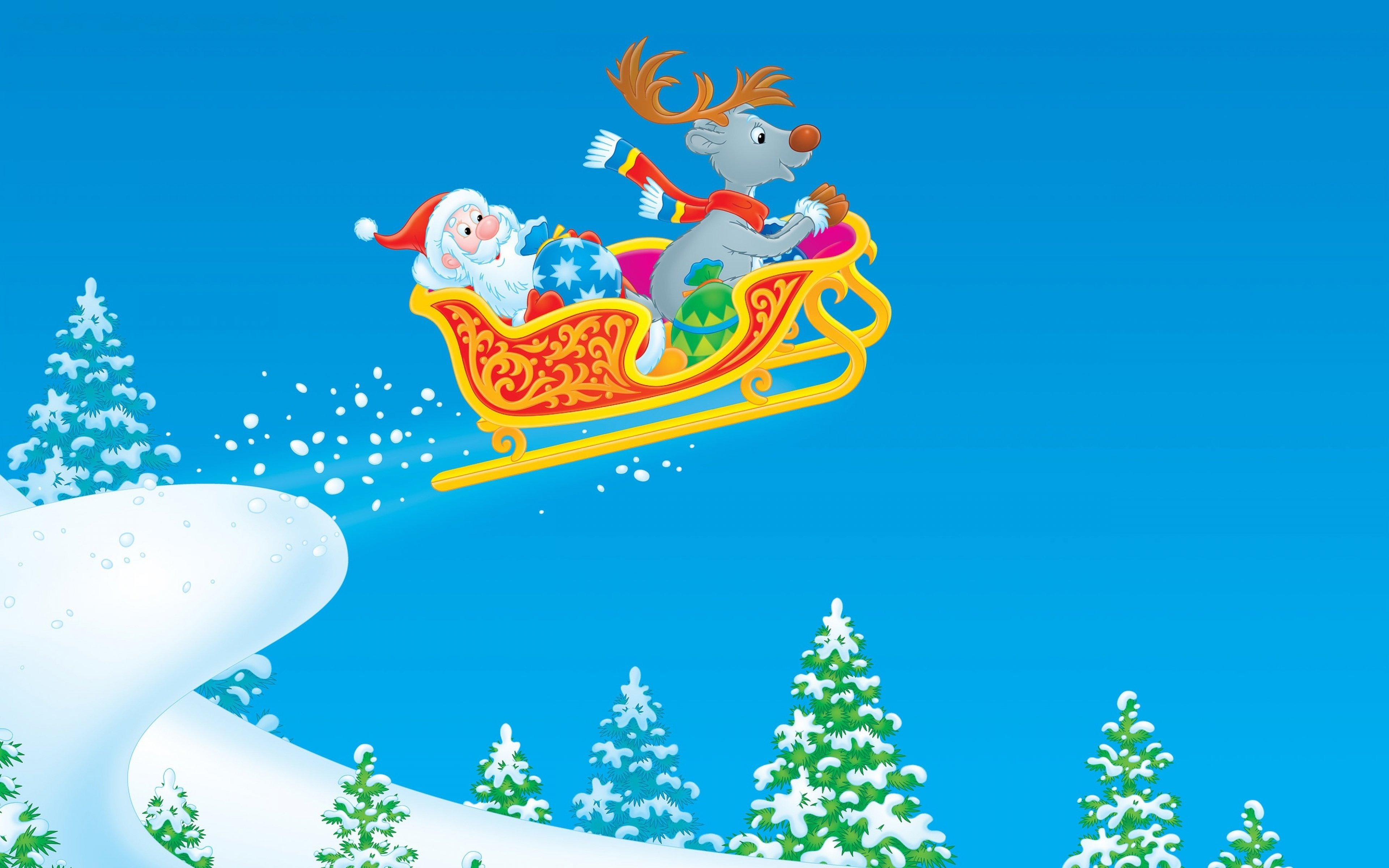 Free Santa high quality background ID:434034 for hd 3840x2400 desktop