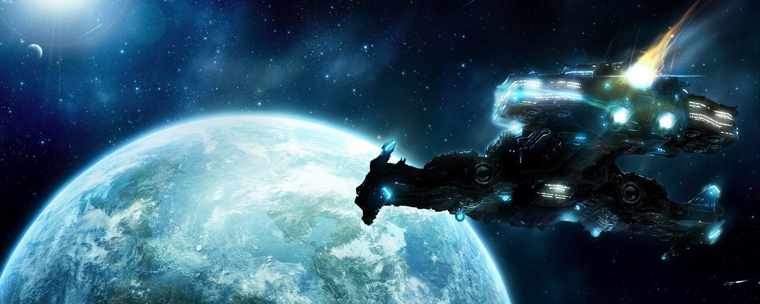 Dual Monitor Starcraft 2 Wallpapers Hd Backgrounds