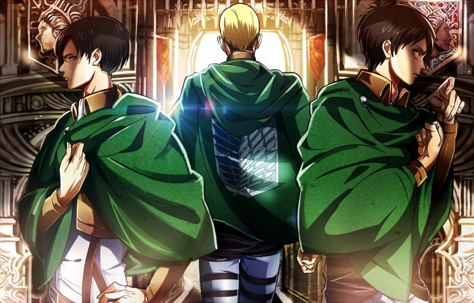 High Resolution Attack On Titan Hd 1600x1024 Background Id 206096