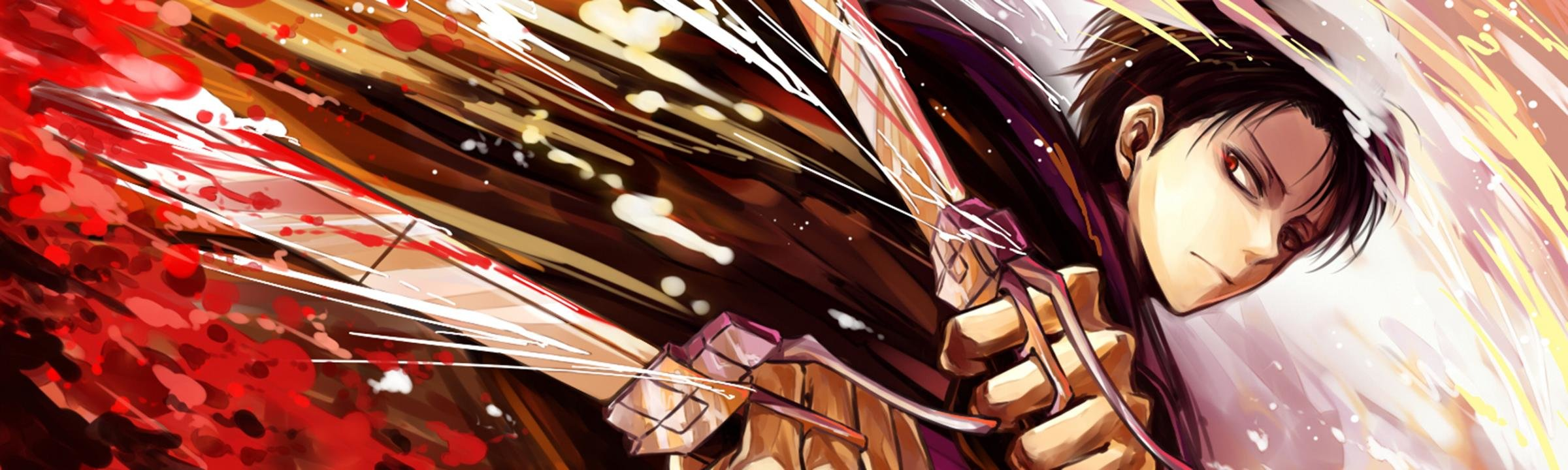 Download dual monitor 2400x720 Levi Ackerman PC background ID:206284 for free