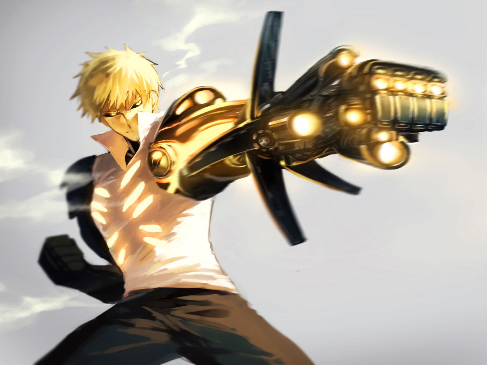 Free Genos (One-Punch Man) high quality background ID:345252 for hd 1600x1200 PC