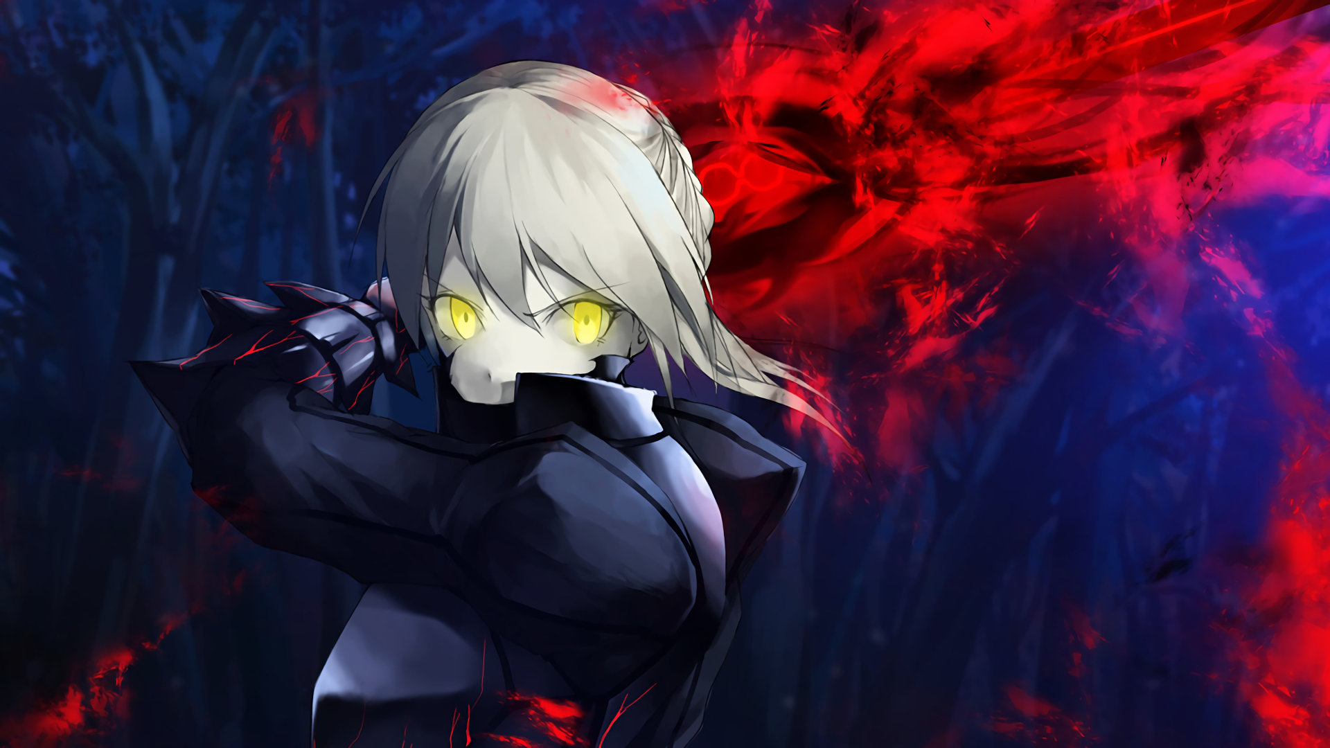 Download full hd 1920x1080 Saber Alter desktop wallpaper ID:468846 for free