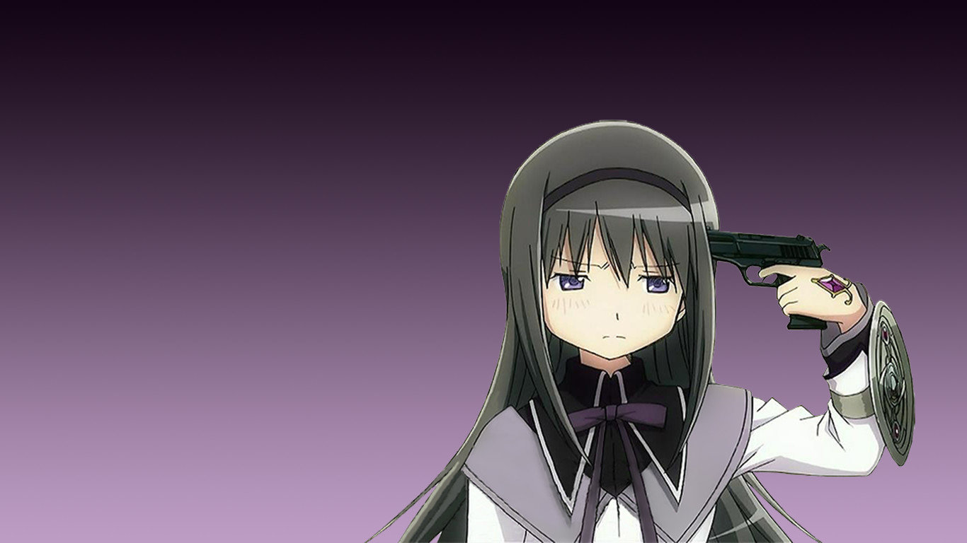 Free download Homura Akemi wallpaper ID:32328 hd 1366x768 for PC