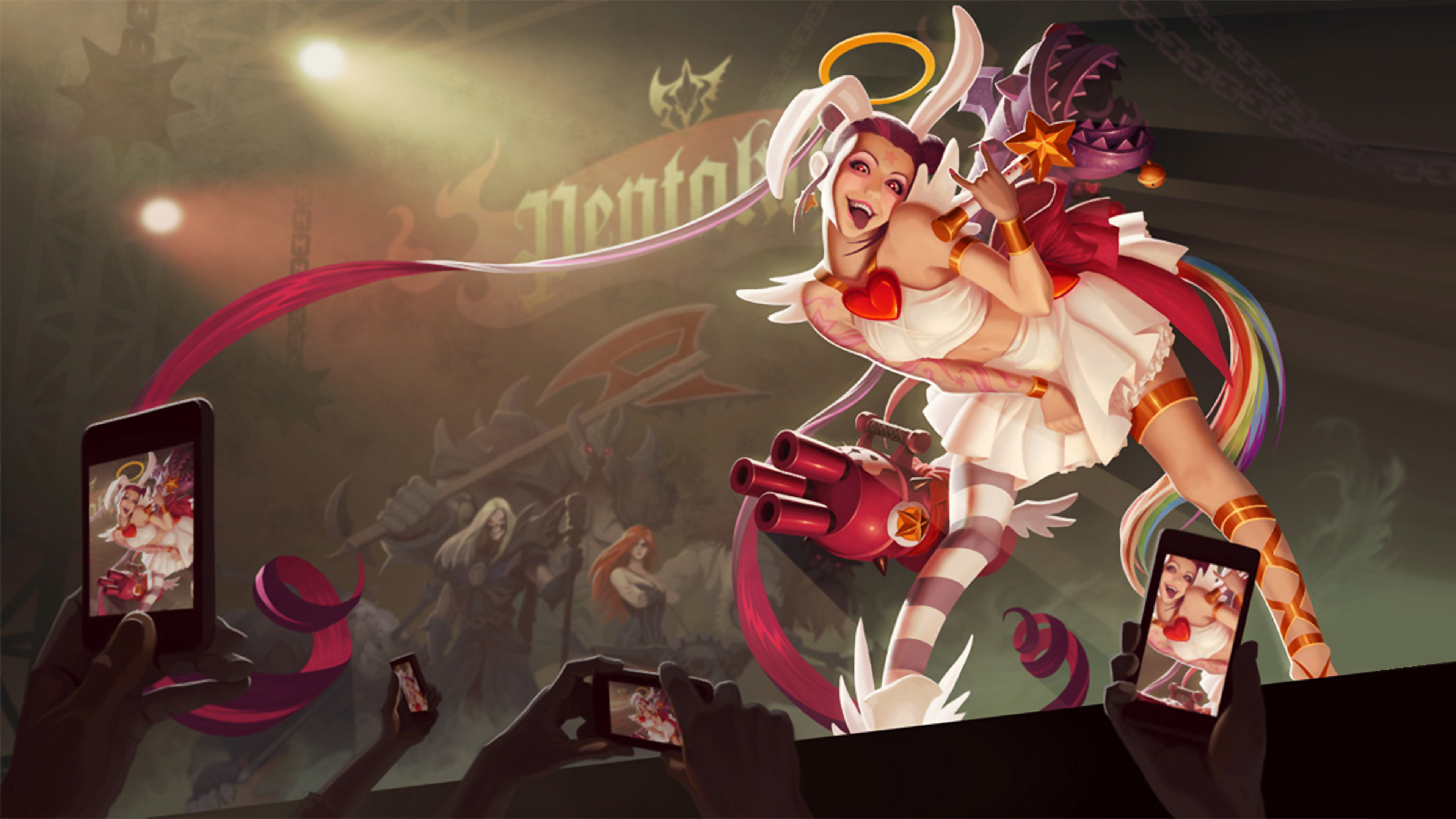 Jinx League Of Legends Wallpapers 3840x2160 Ultra Hd 4k