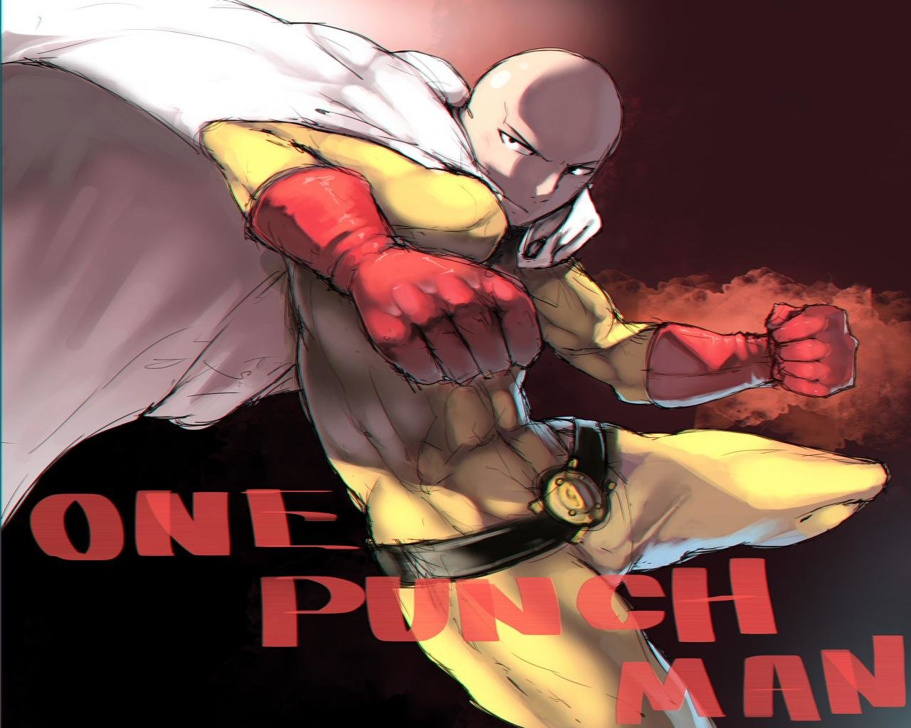 Download hd 1280x1024 Saitama (One-Punch Man) desktop wallpaper ID:345419 for free