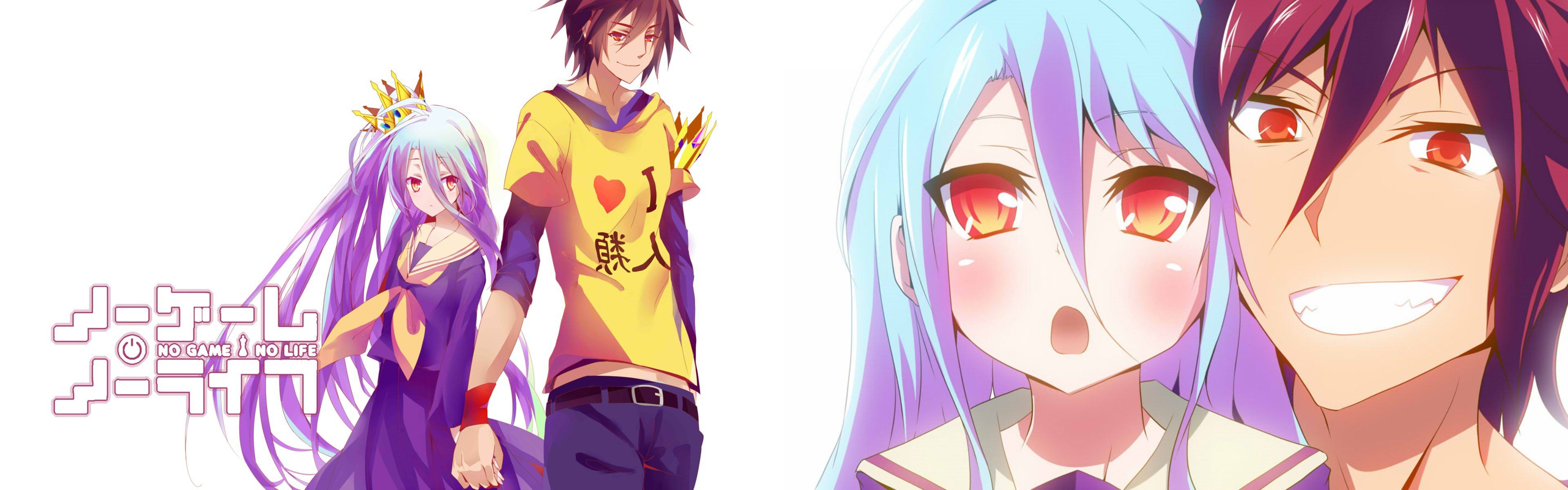 Free download No Game No Life background ID:102448 dual monitor 3840x1200 for desktop