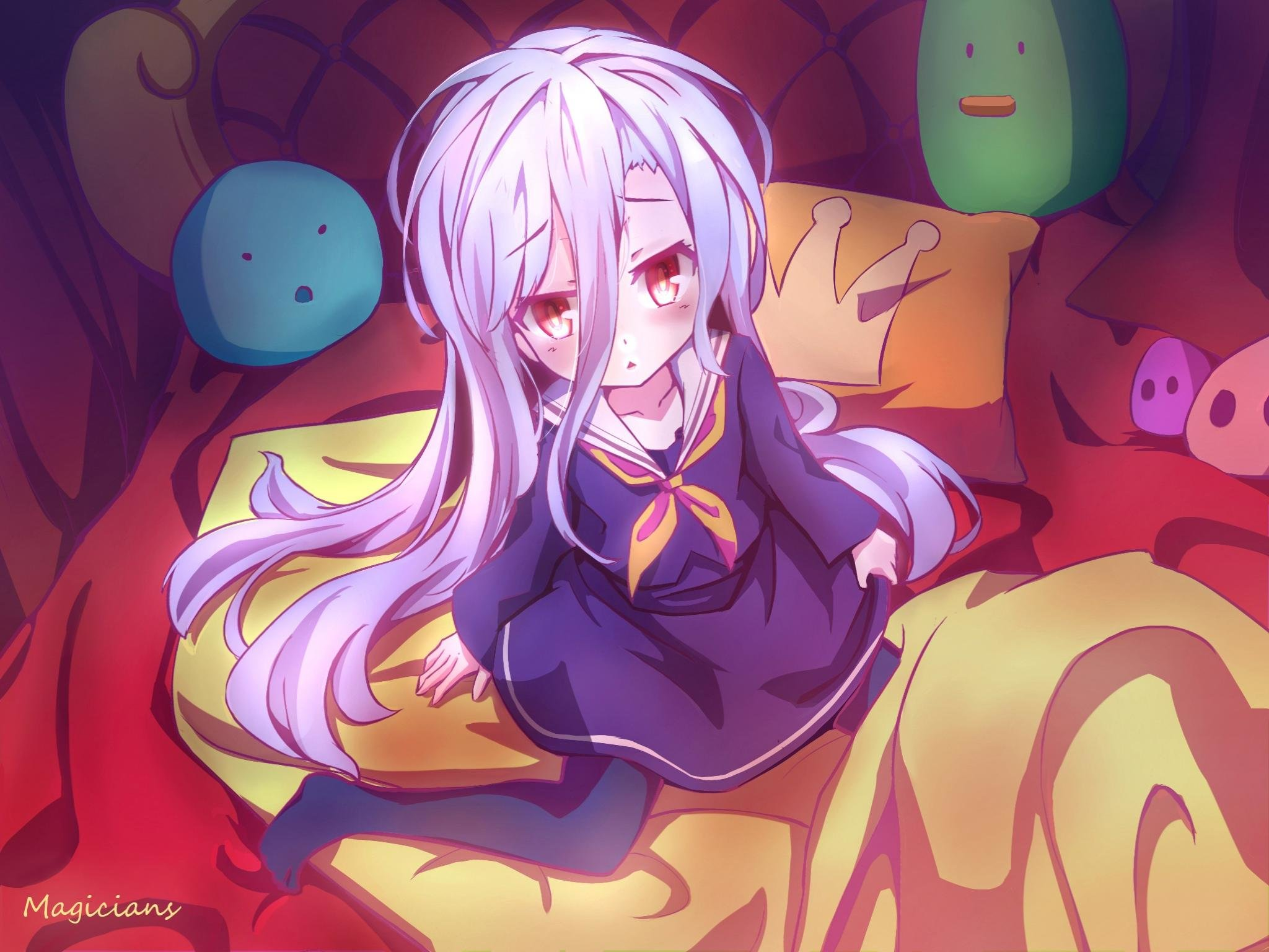 Free Shiro (No Game No Life) high quality background ID:102374 for hd 2048x1536 PC