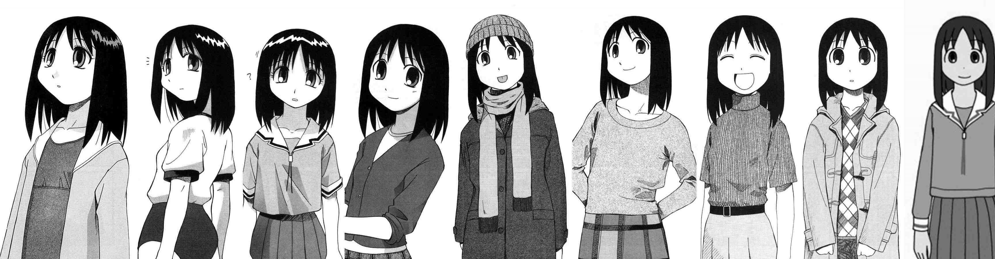 Free Azumanga Daioh high quality background ID:374299 for triple screen 3456x900 PC