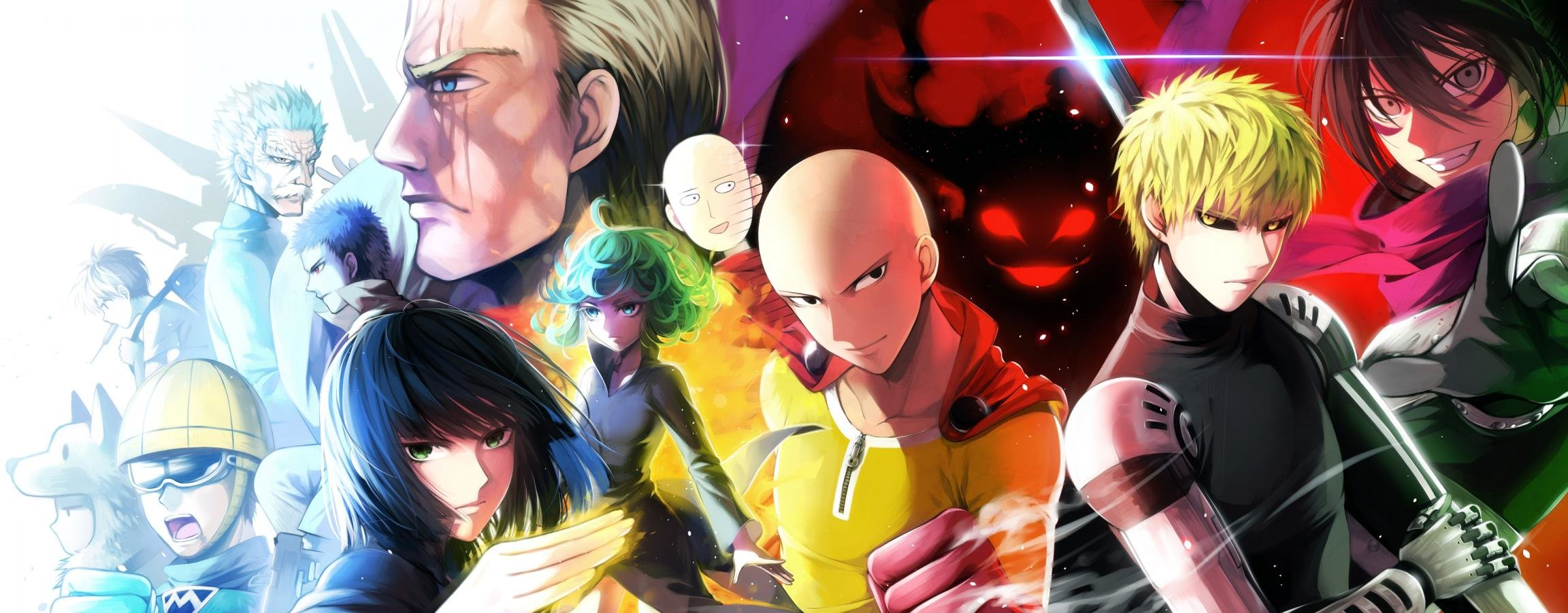 High resolution One-Punch Man dual screen 2304x900 background ID:345302 for desktop