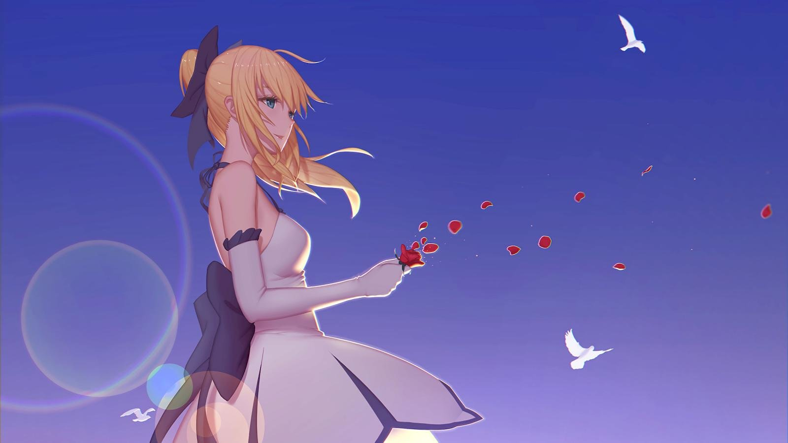 Download hd 1600x900 Saber (Fate Series) desktop background ID:468902 for free