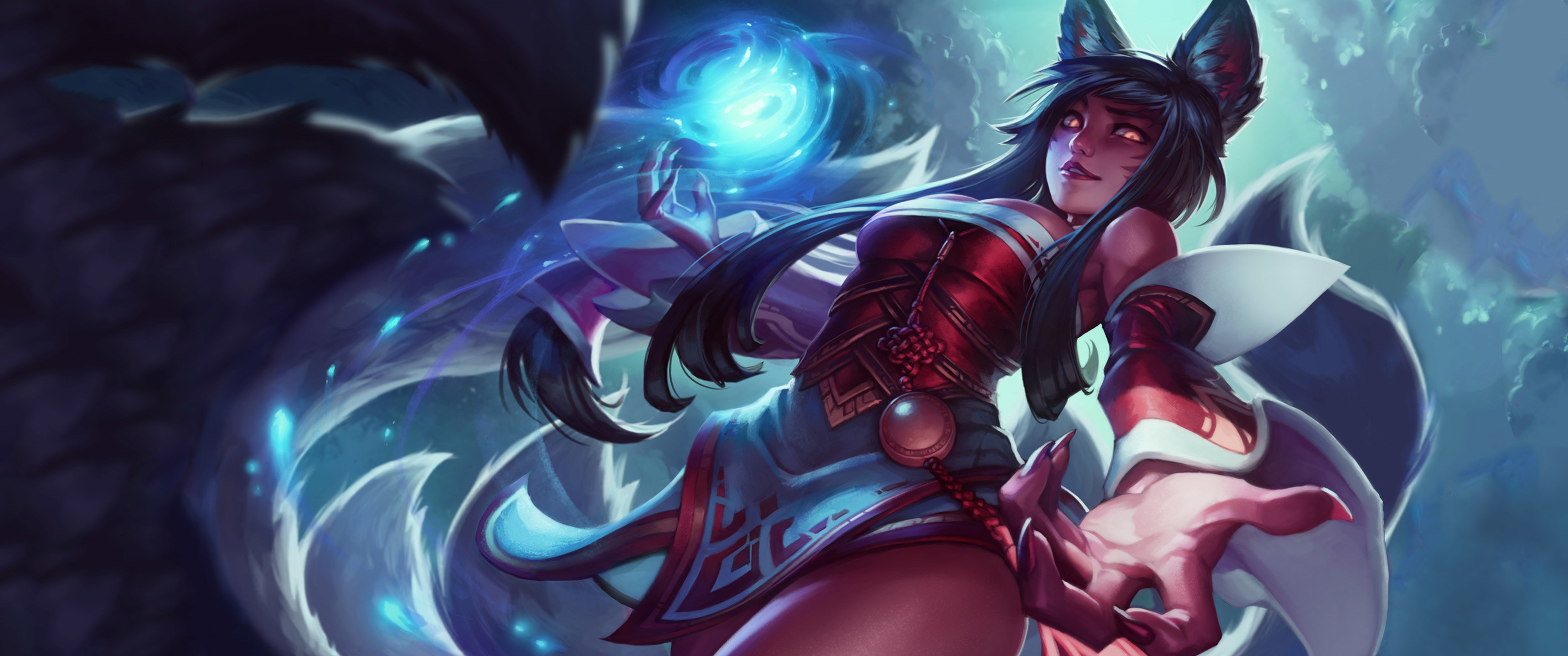 High resolution Ahri (League Of Legends) hd 3440x1440 background ID:171230 for PC