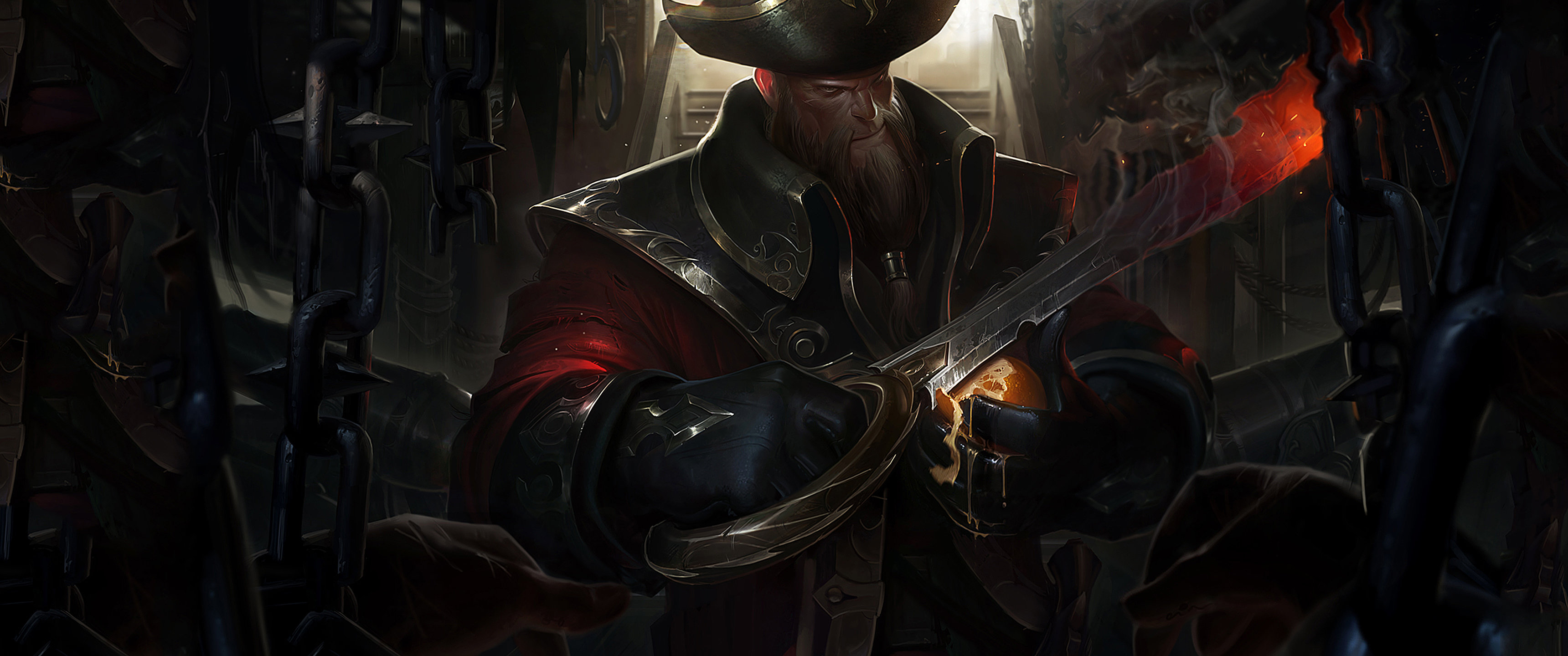 Download hd 3440x1440 Gangplank (League Of Legends) PC wallpaper ID:172568 for free