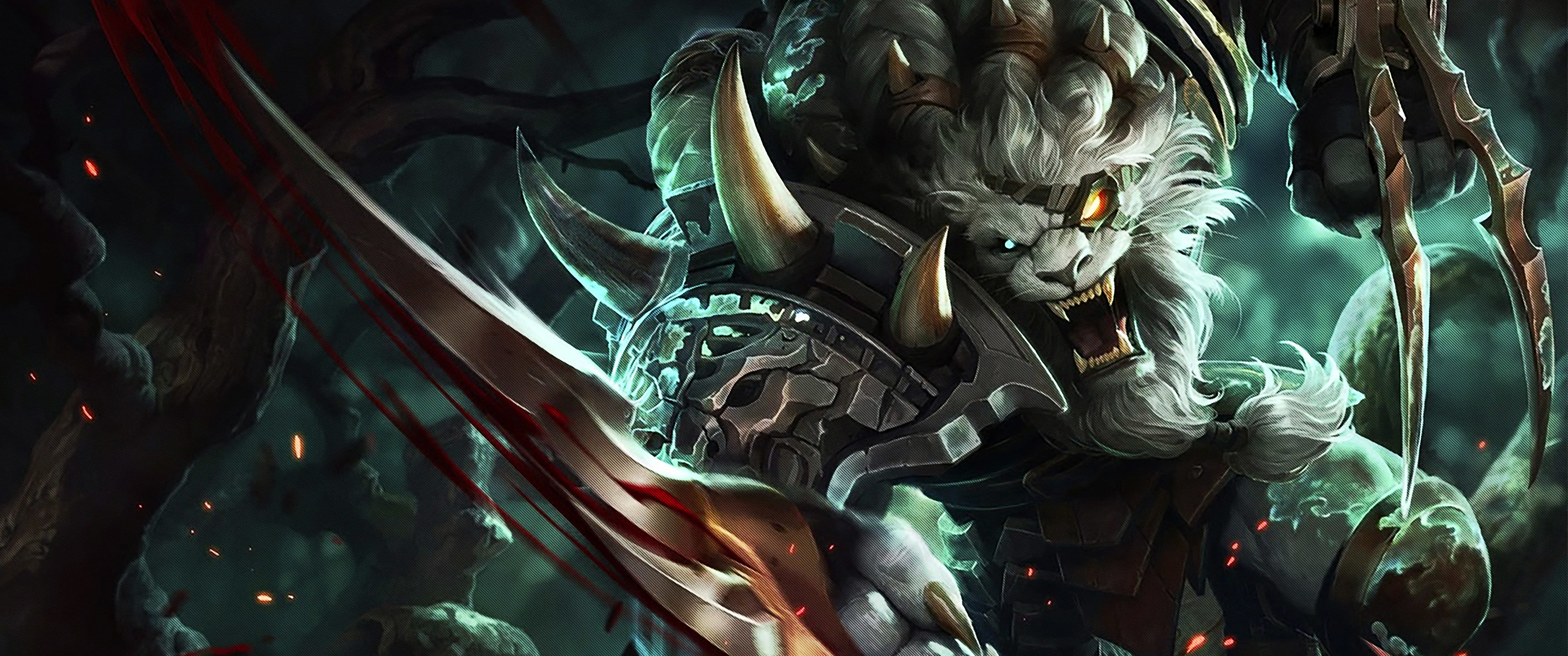 Awesome Rengar (League Of Legends) free wallpaper ID:171594 for hd 3440x1440 computer