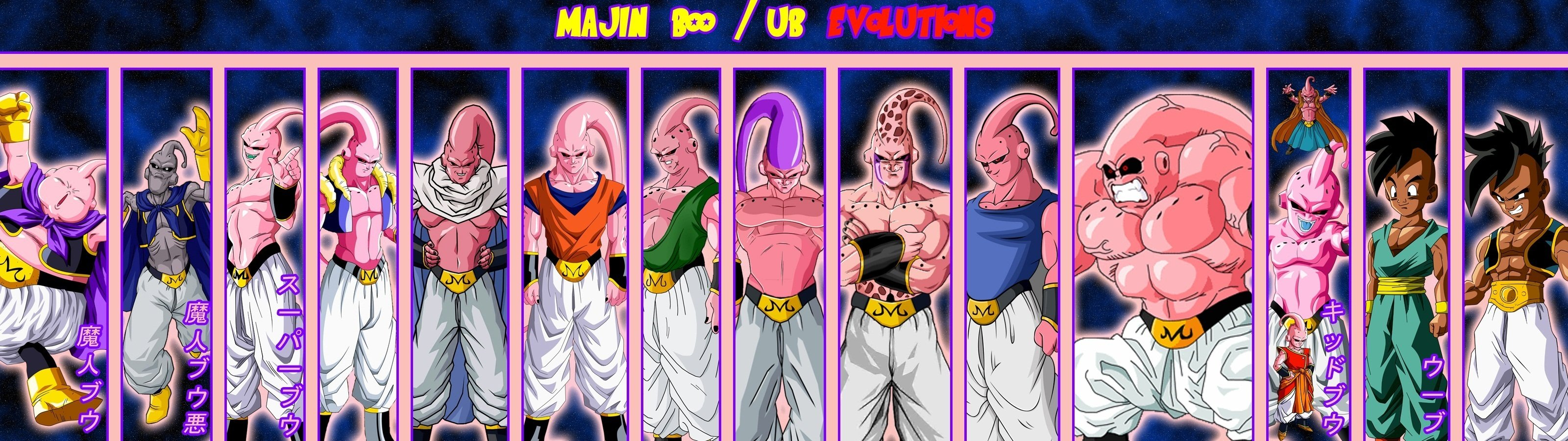 High resolution Dragon Ball Z (DBZ) dual monitor 3200x900 background ID:462184 for desktop