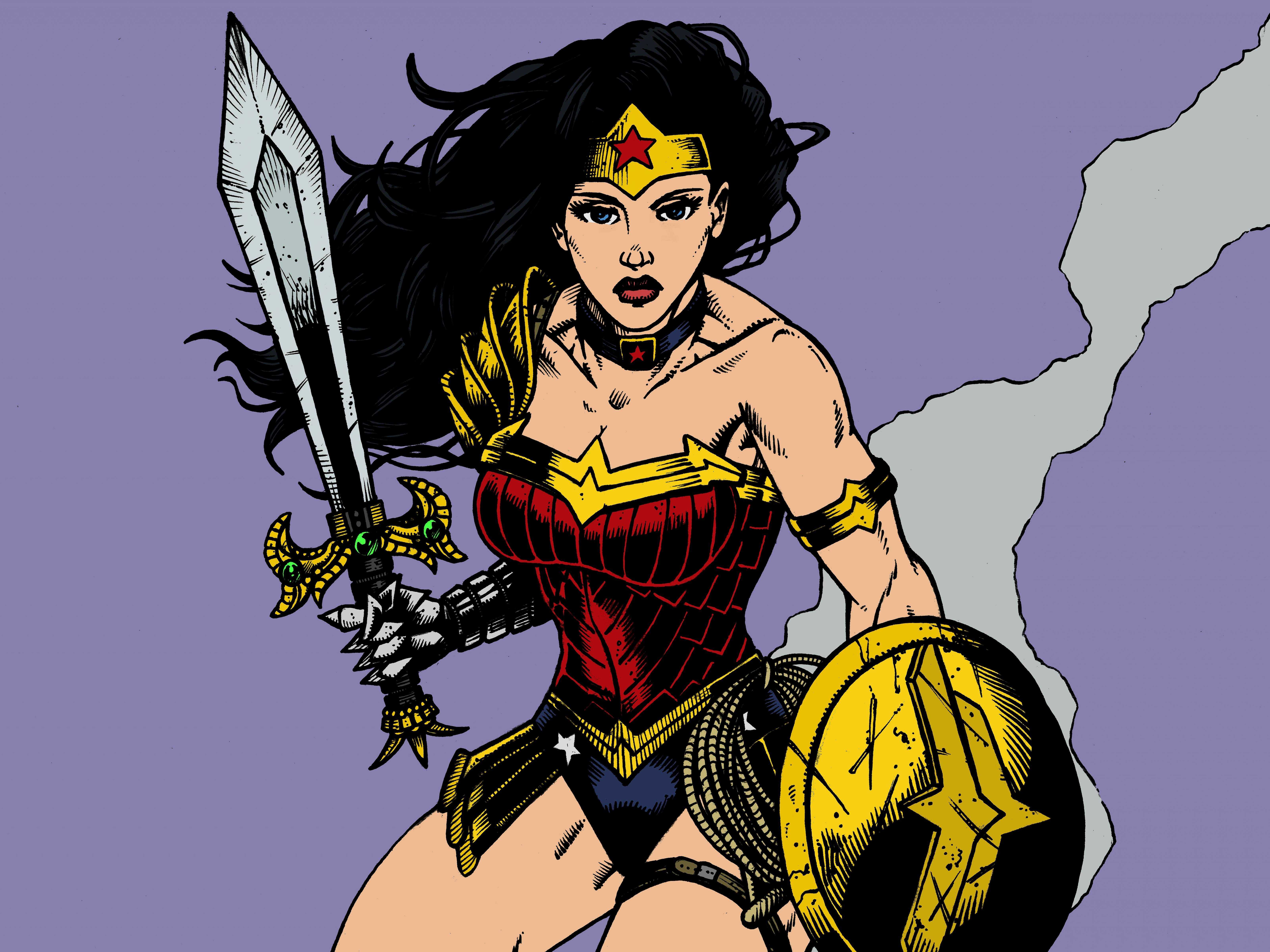 Download hd 6400x4800 Wonder Woman computer background ID:240357 for free
