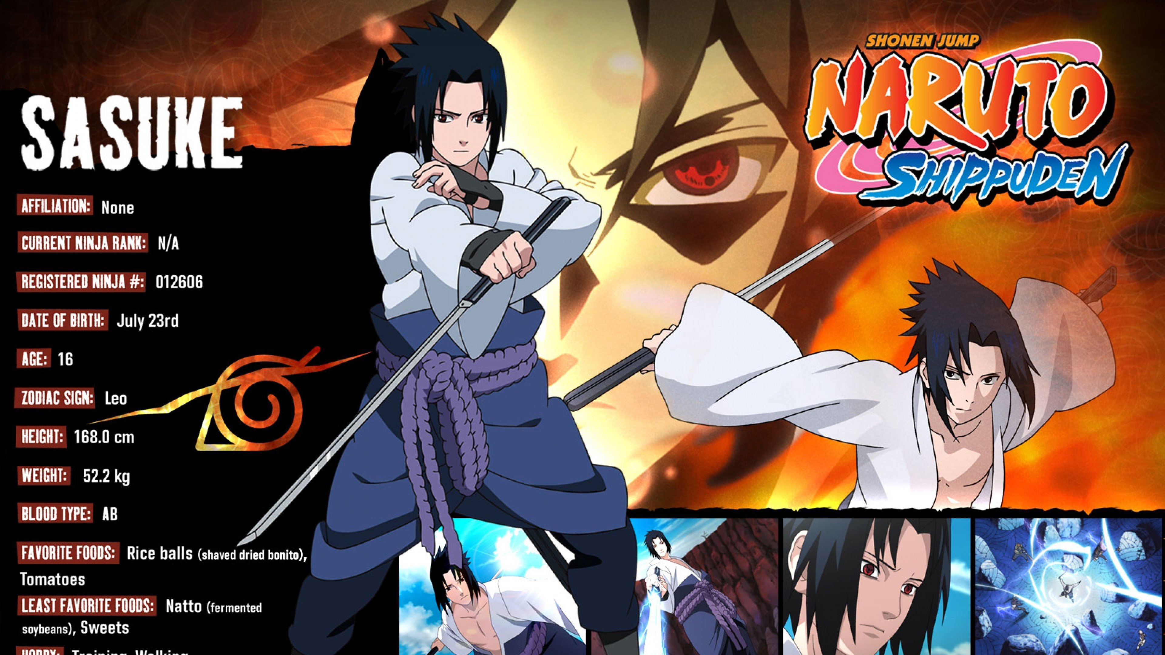 Download uhd 4k Sasuke Uchiha PC wallpaper ID:395613 for free