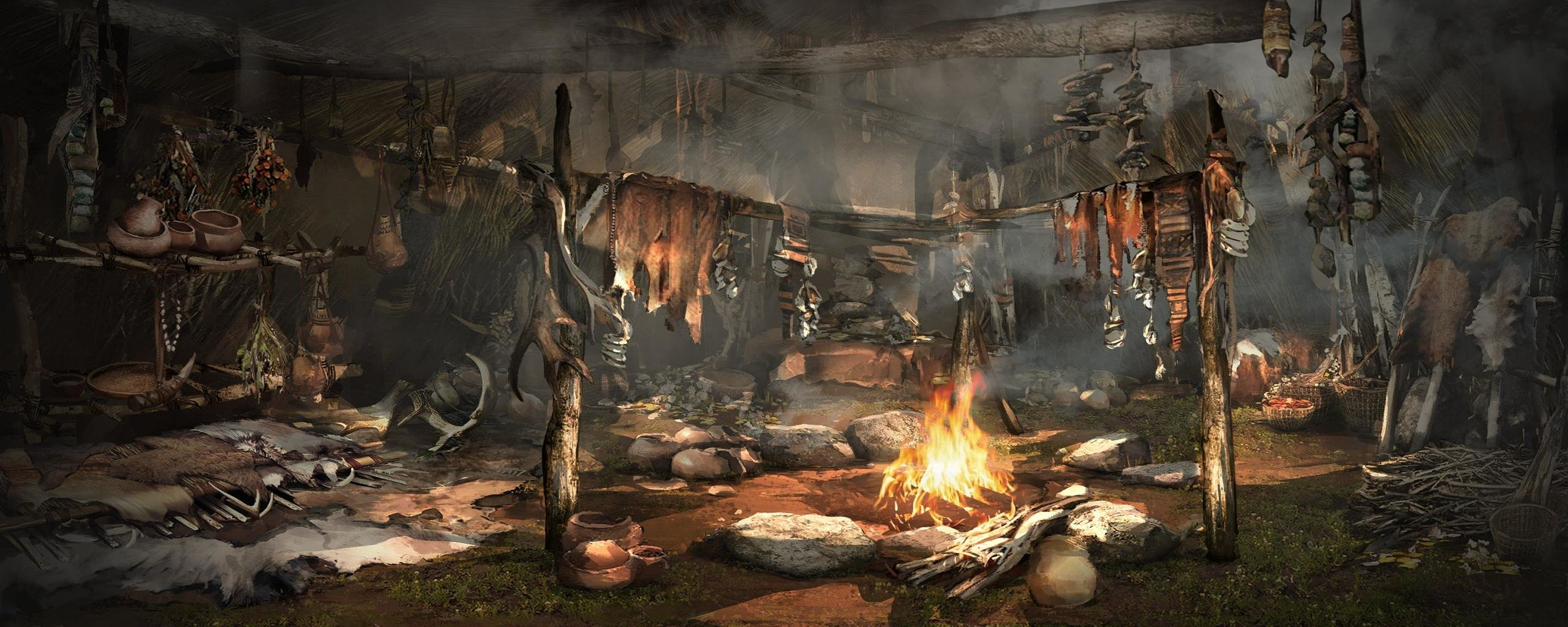 Dual Monitor Far Cry Primal Wallpapers Hd Backgrounds