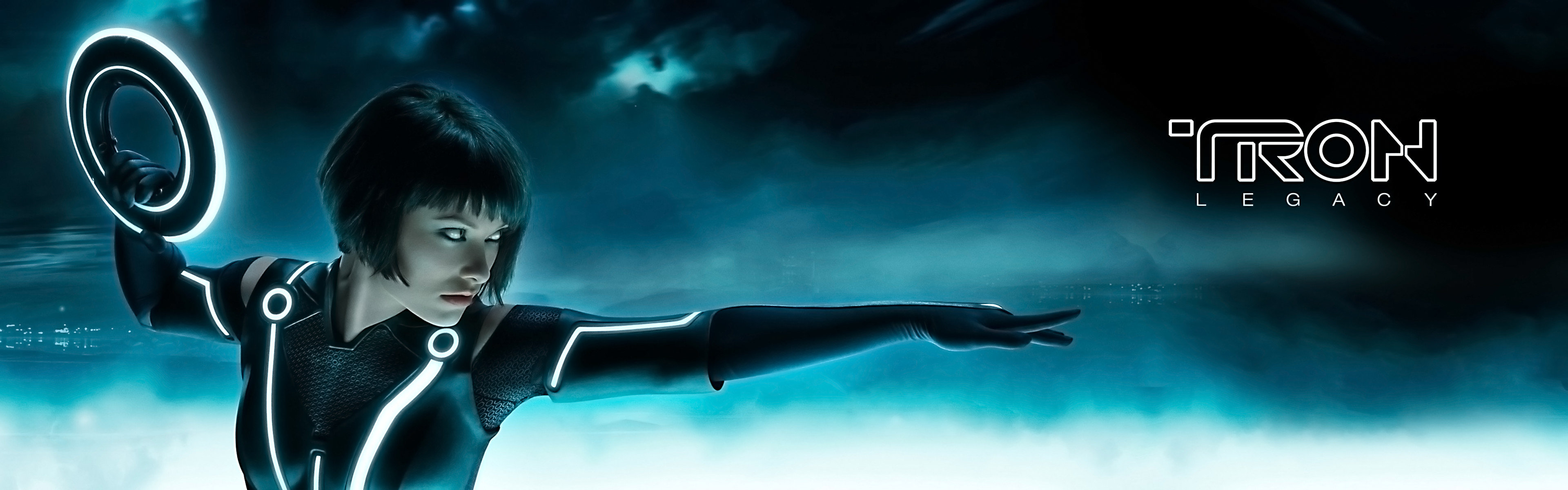High resolution TRON: Legacy dual screen 3840x1200 wallpaper ID:379616 for computer