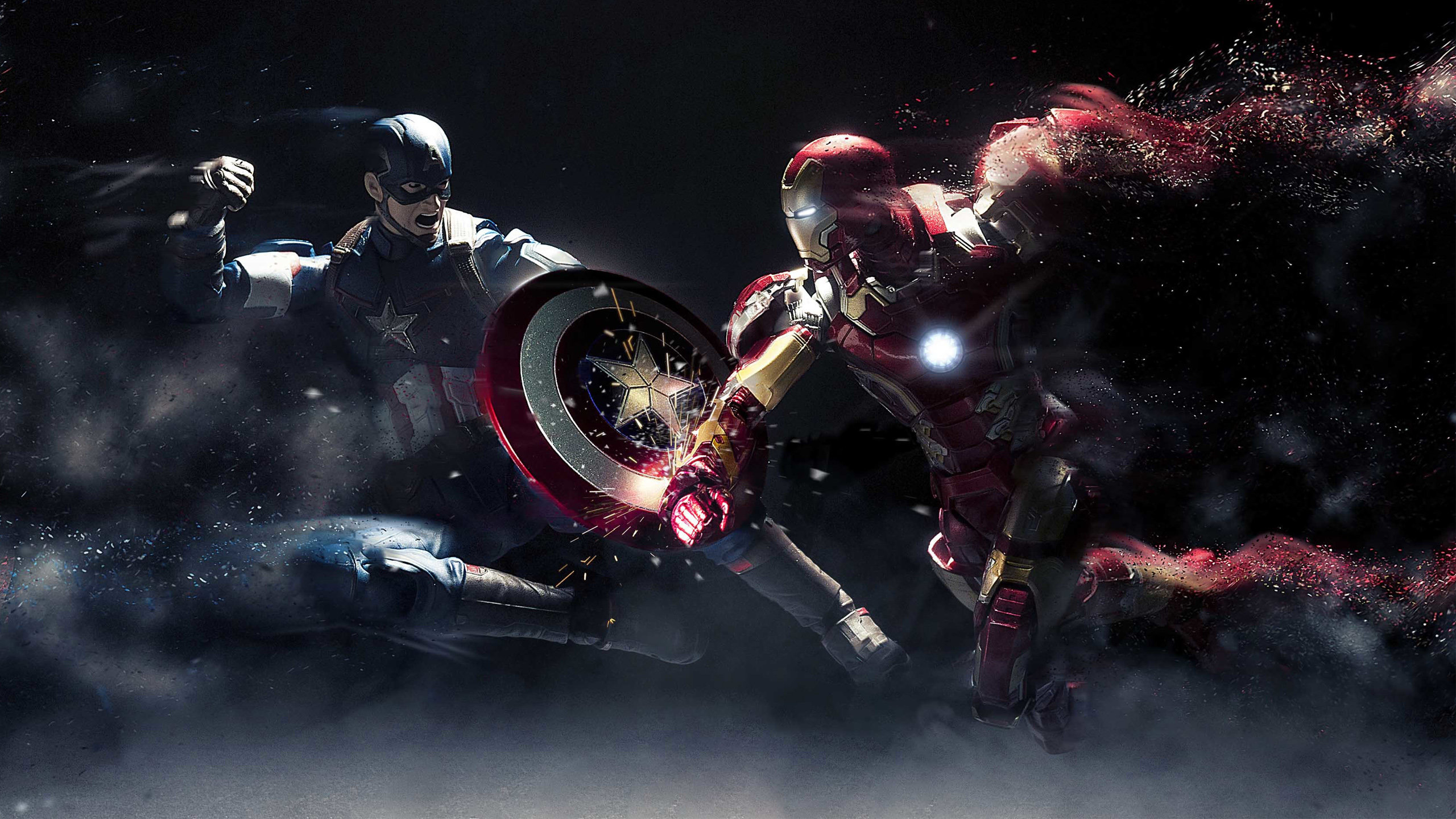 captain america: civil war wallpapers 2560x1440 desktop backgrounds
