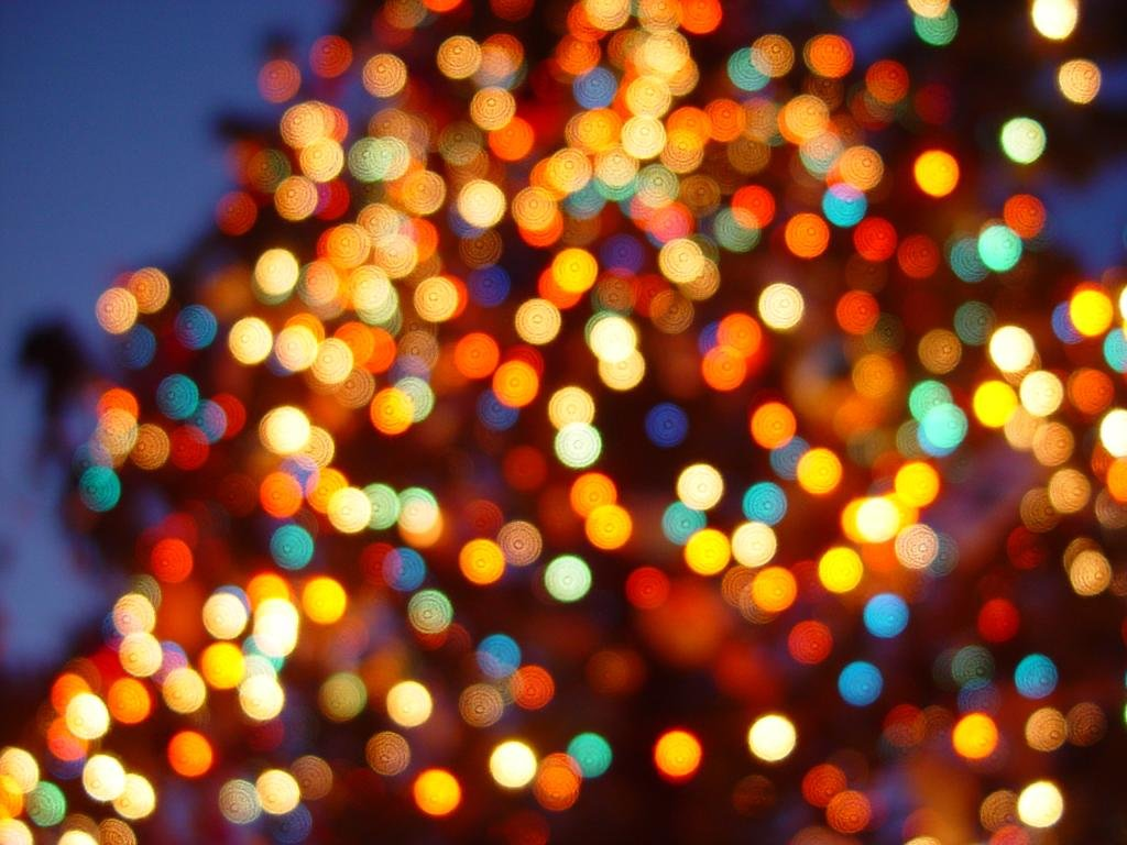 Download Hd 1024x768 Christmas Lights Desktop Wallpaper Id