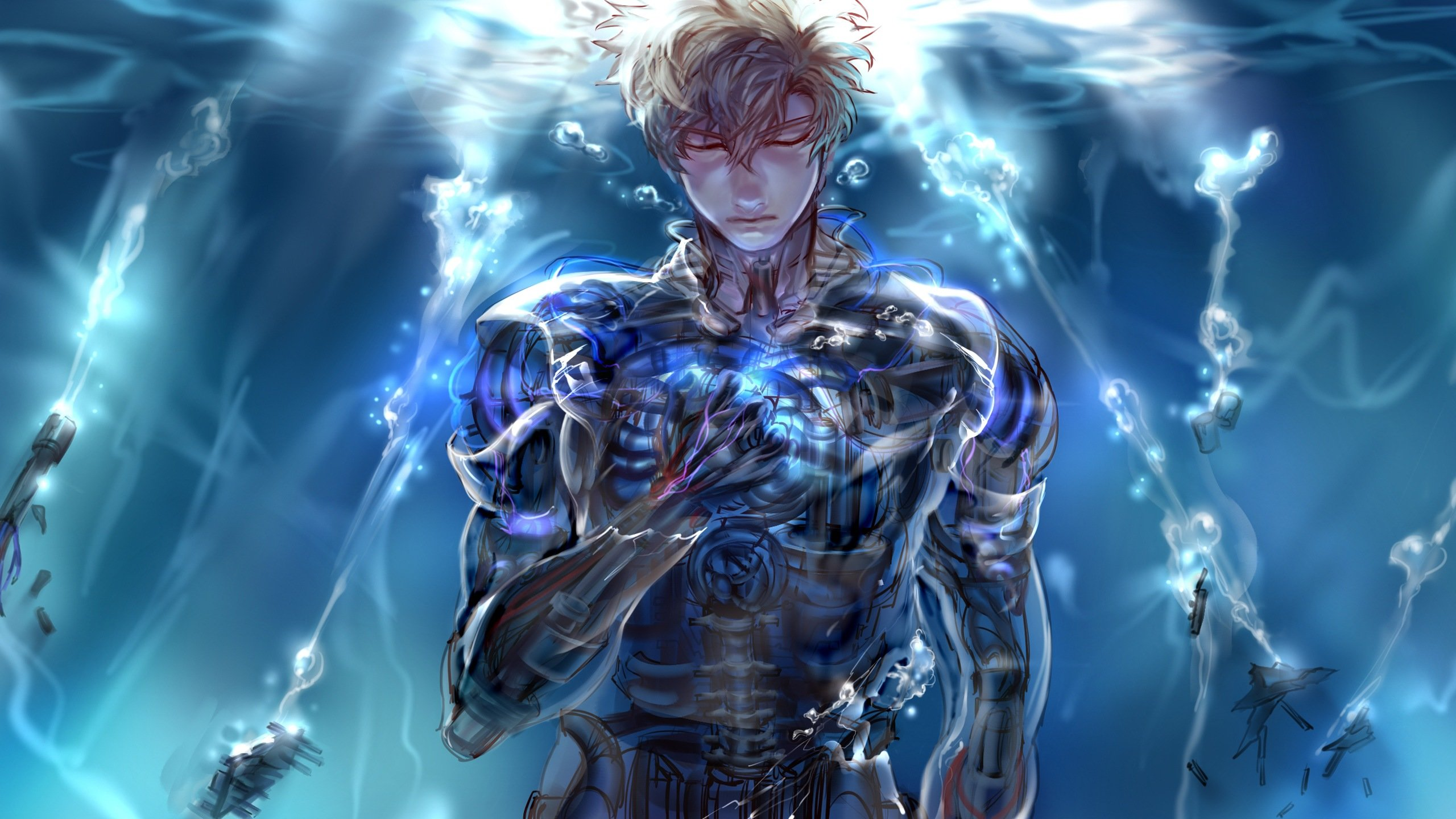 Awesome Genos (One-Punch Man) free background ID:345196 for hd 2560x1440 desktop