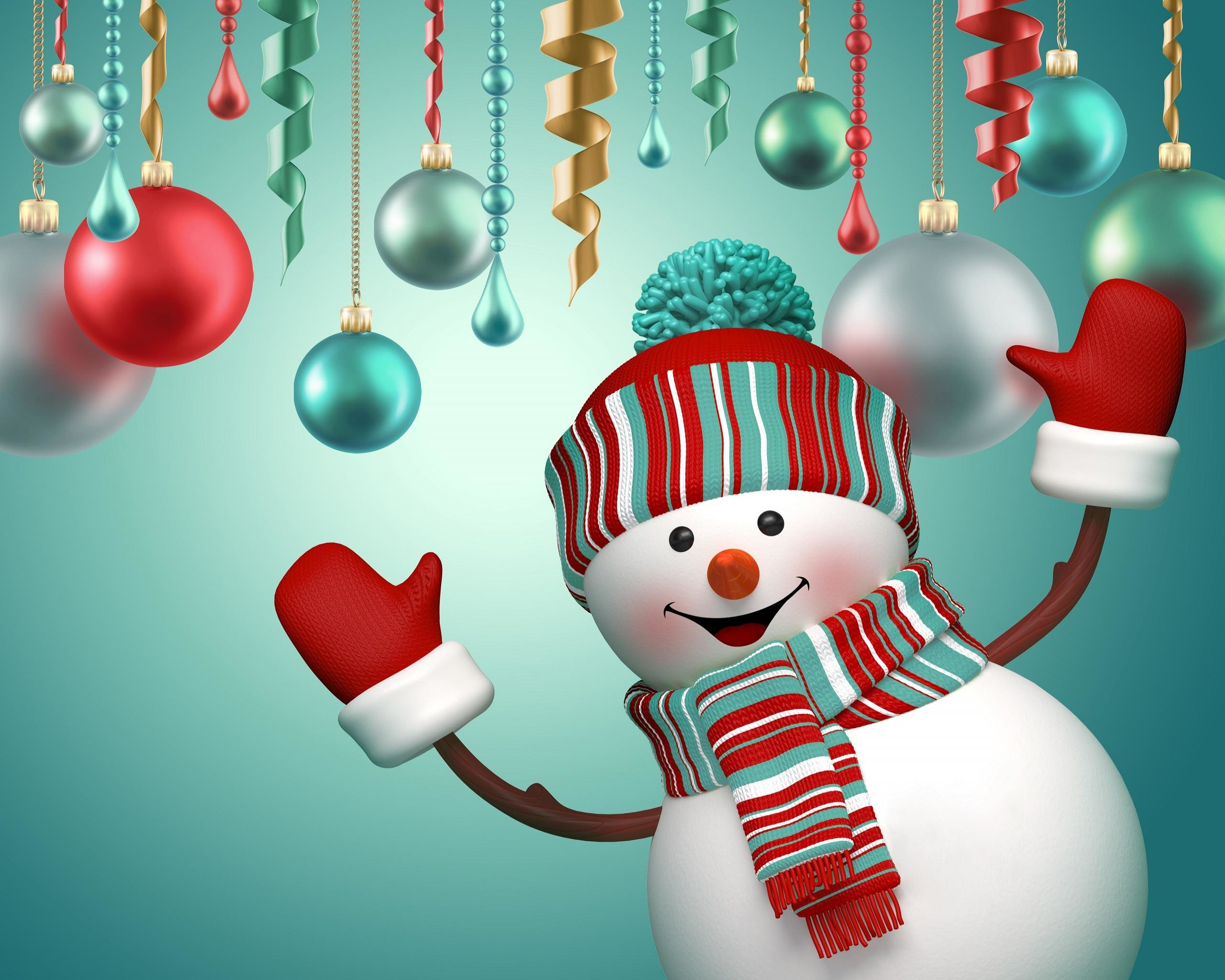 High Resolution Snowman Hd 2560x2048 Wallpaper Id115547 For Pc