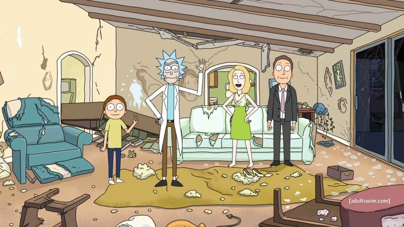 Rick And Morty Wallpapers 1366x768 Laptop Desktop Backgrounds