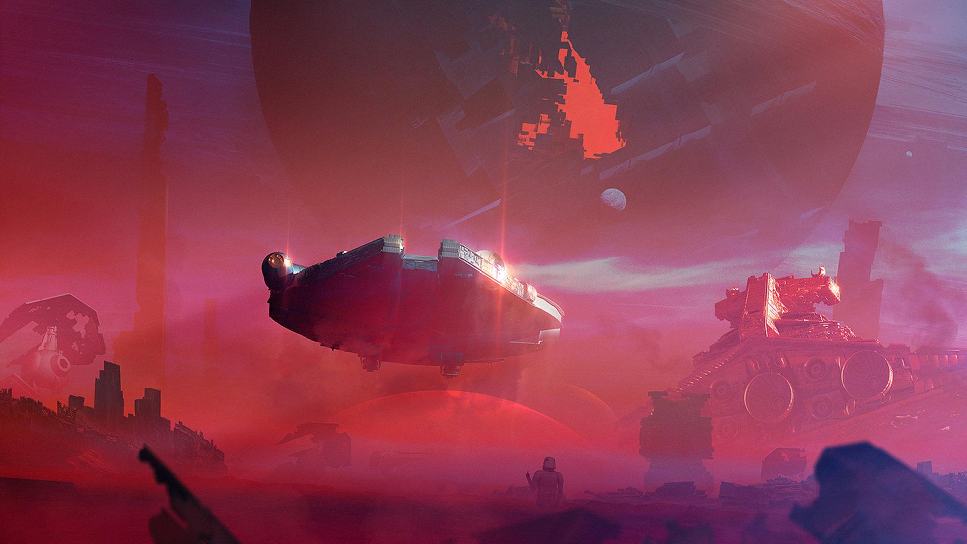 Star Wars Force Awakens 1080p: Millennium Falcon Wallpapers HD For Desktop Backgrounds