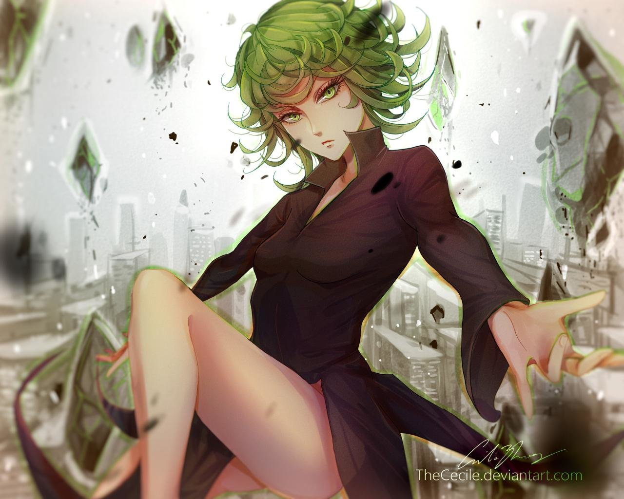 High resolution Tatsumaki (One-Punch Man) hd 1280x1024 wallpaper ID:345292 for PC
